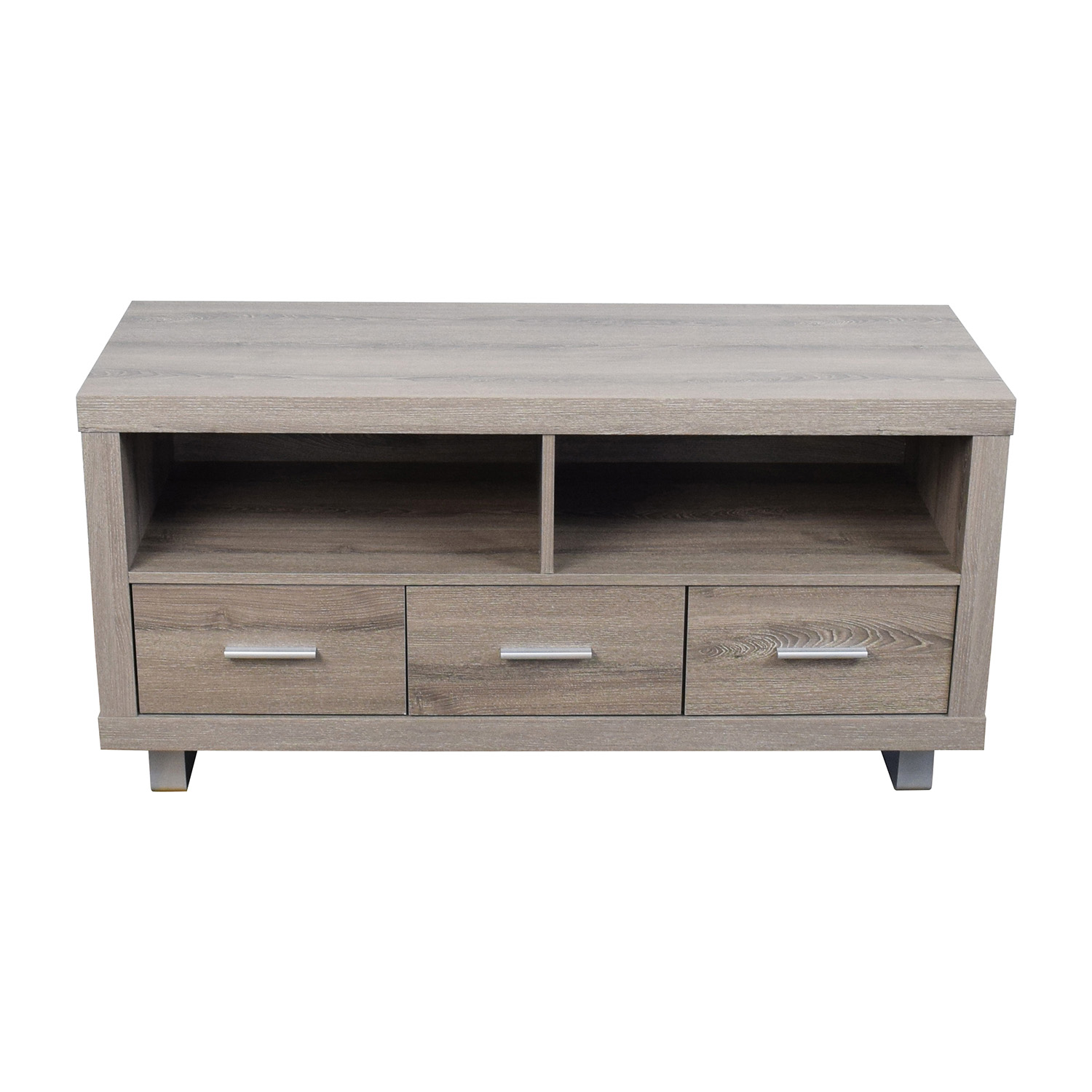 shop Monarch Specialties Light Brown TV Stand Monarch Specialties Inc. Media Units