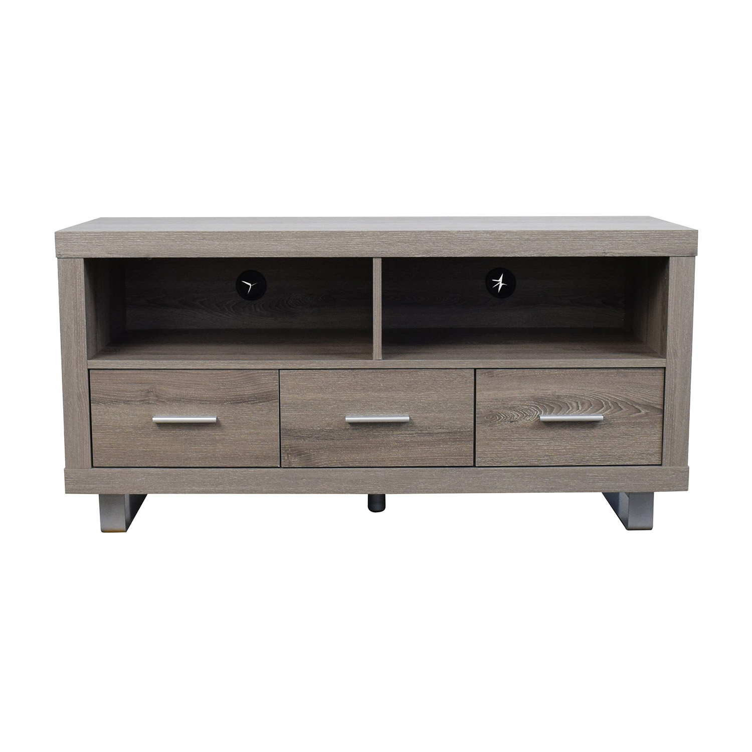 Monarch Specialties Light Brown TV Stand / Storage