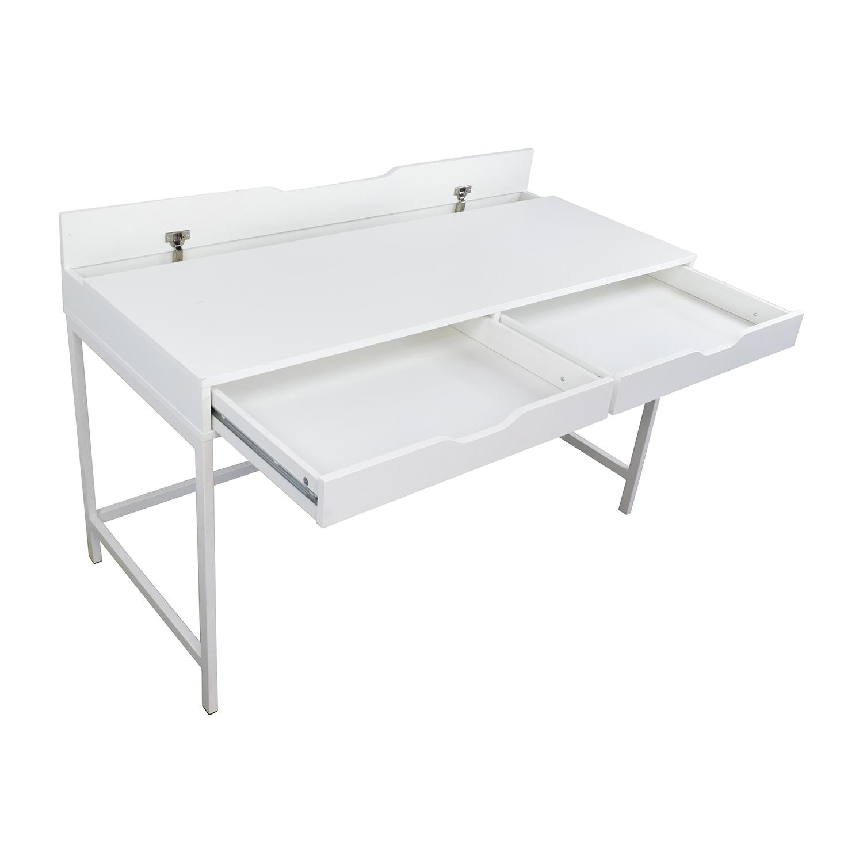 59 off ikea ikea alex white desk tables. Black Bedroom Furniture Sets. Home Design Ideas
