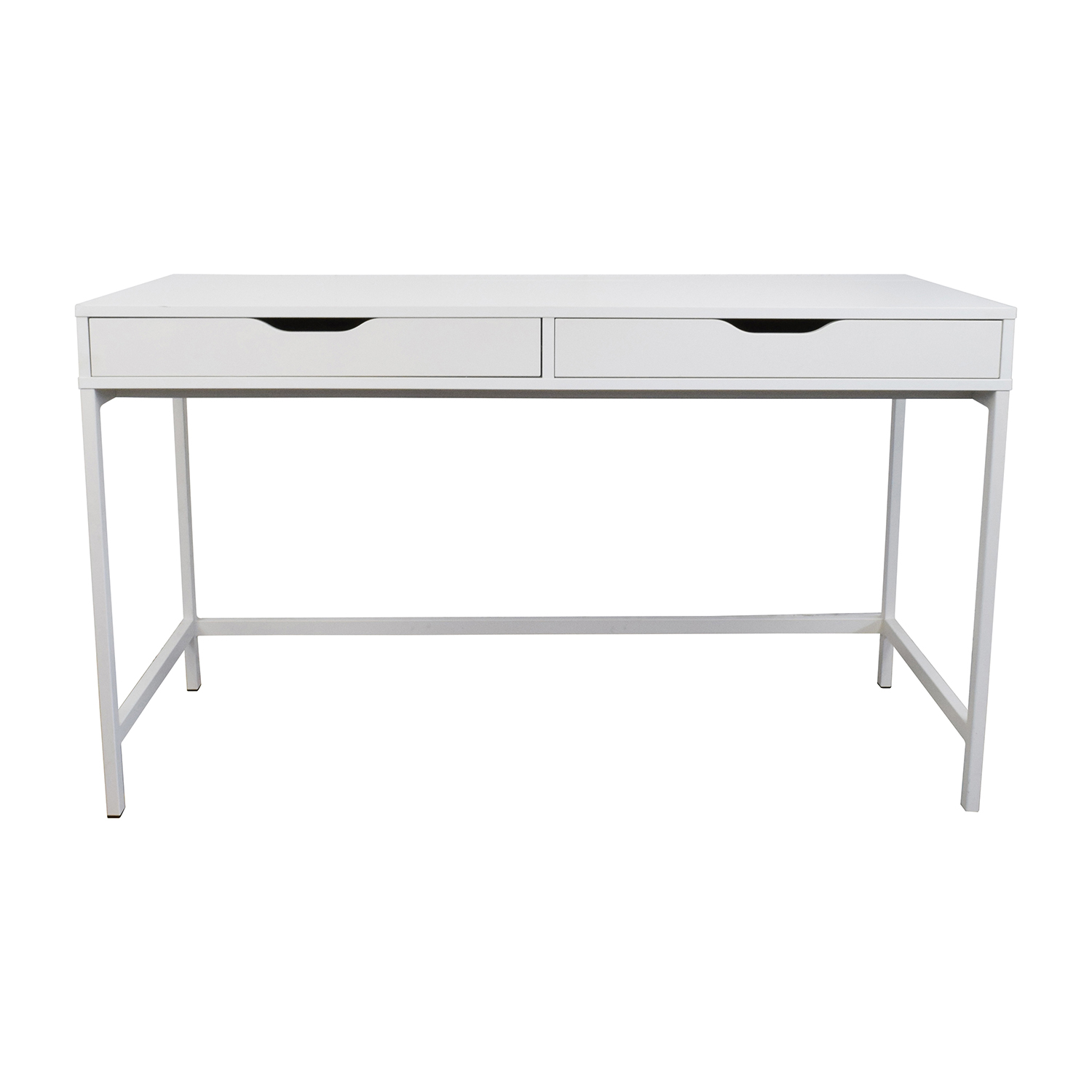 Model 65 OFF IKEA IKEA Glass Top Office Desk Tables.