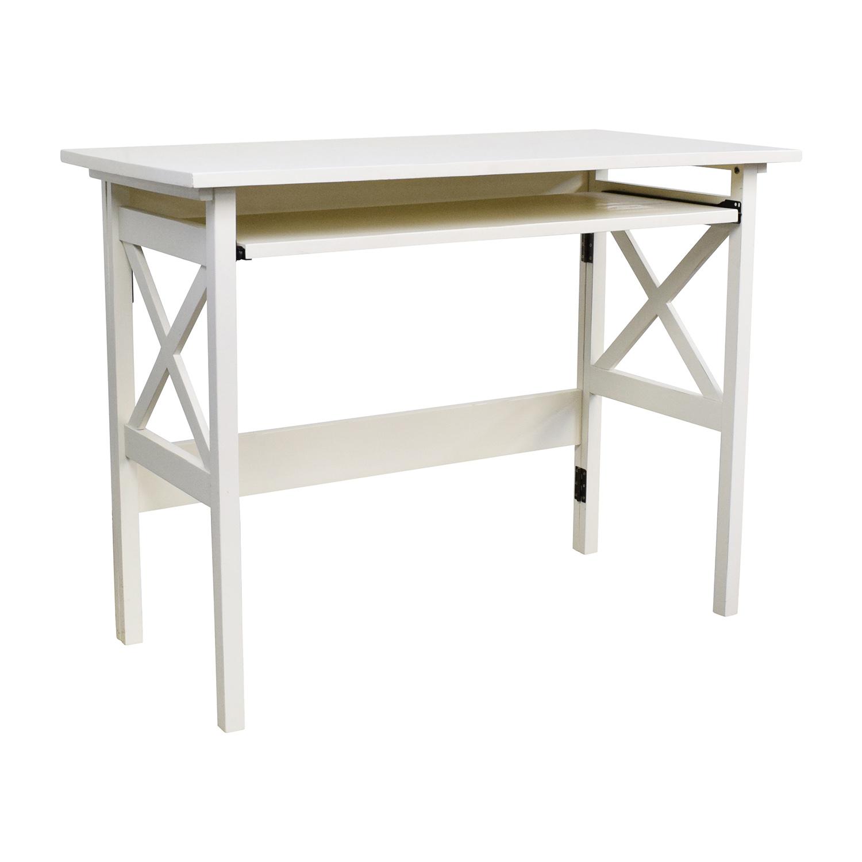70 OFF West Elm West Elm White Desk Tables