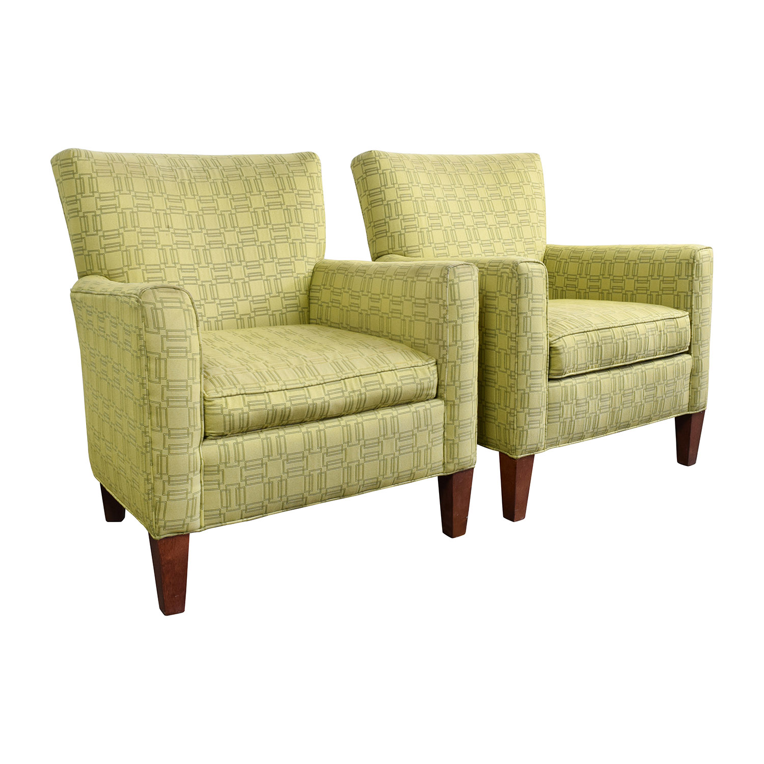 90% OFF Ethan Allen Ethan Allen Green Upholstered Accent Chairs