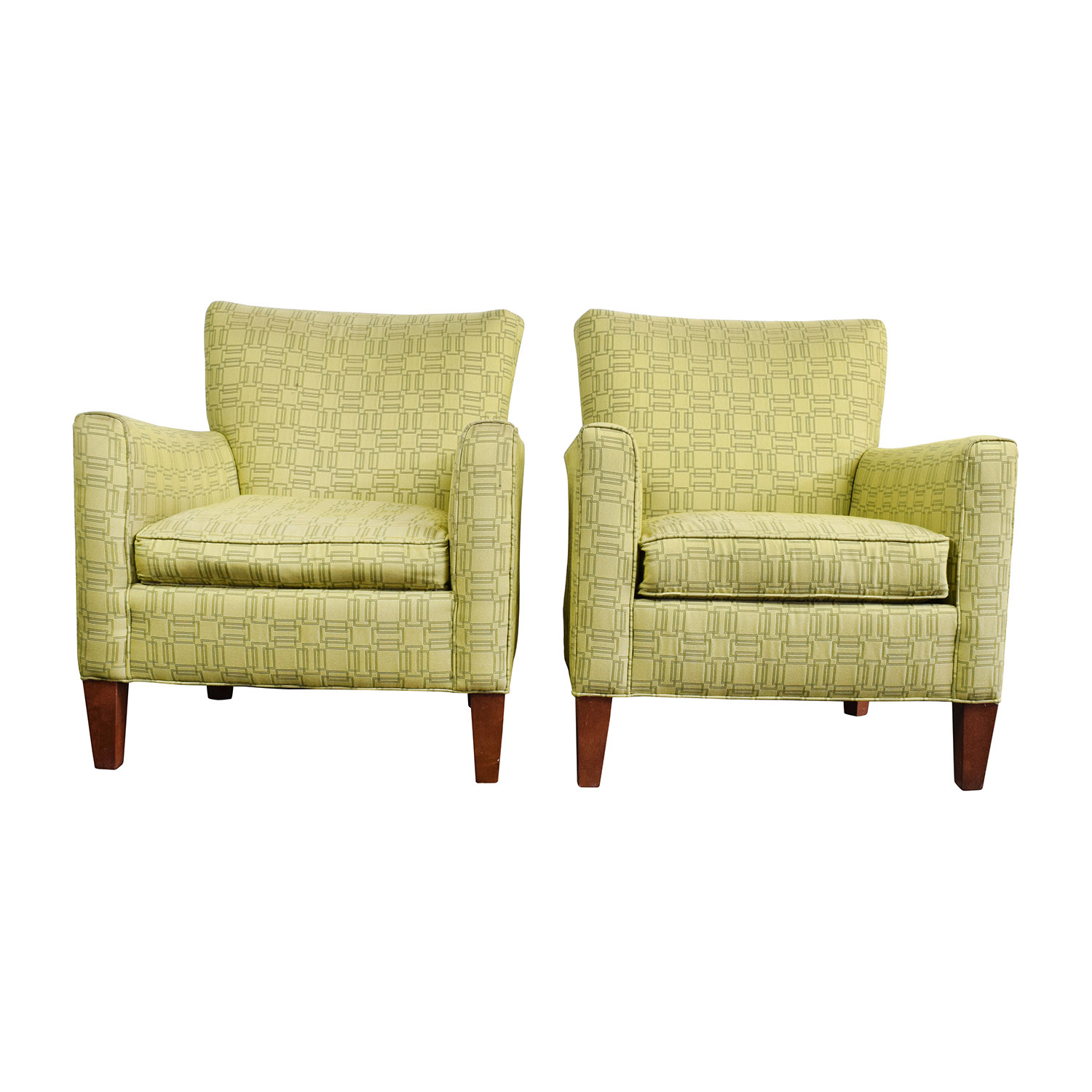 buy Ethan Allen Ethan Allen Green Upholstered Accent Chairs online