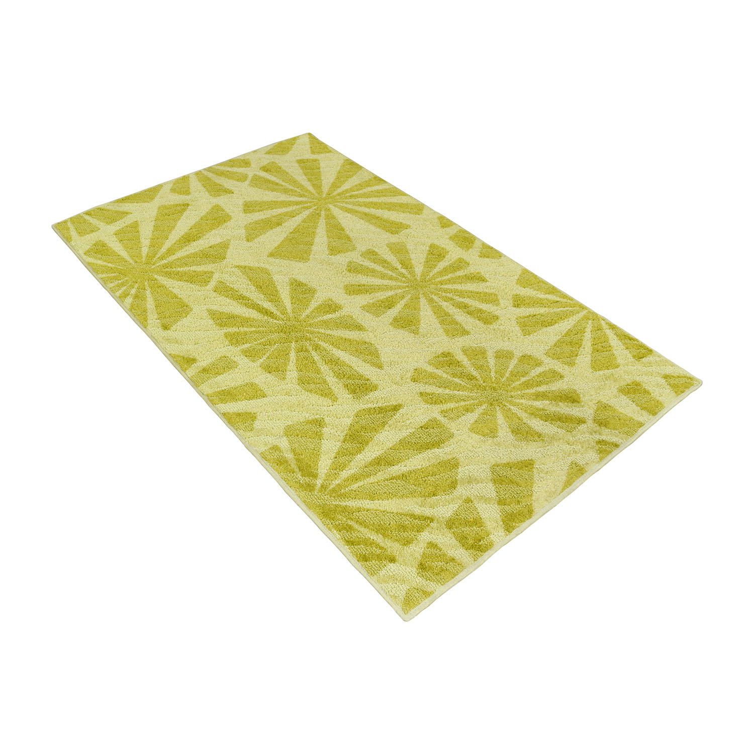 Shaw Living Angela Adams for Shaw Living Two-Toned Green Rug used