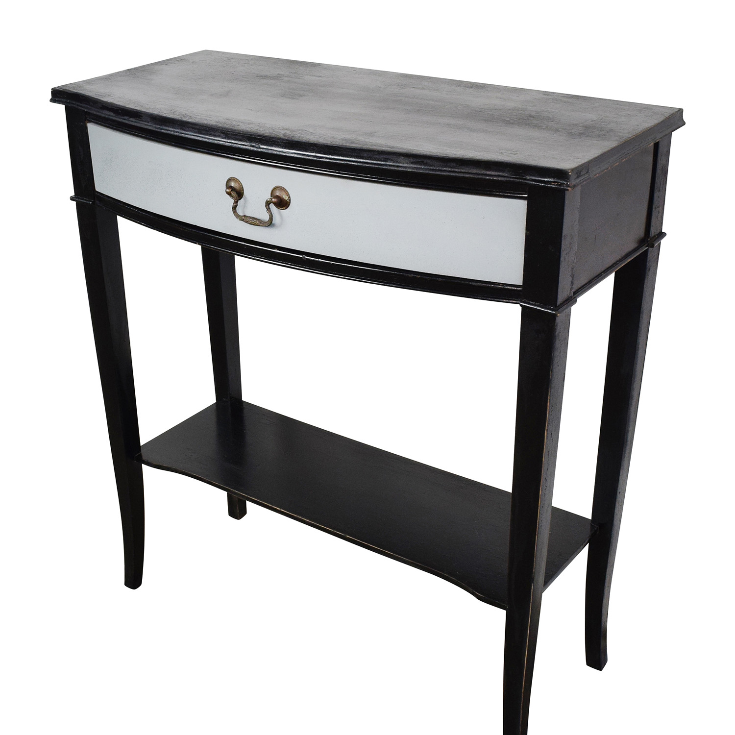 74 off etsy etsy vintage black and grey console table for Sofa table grey