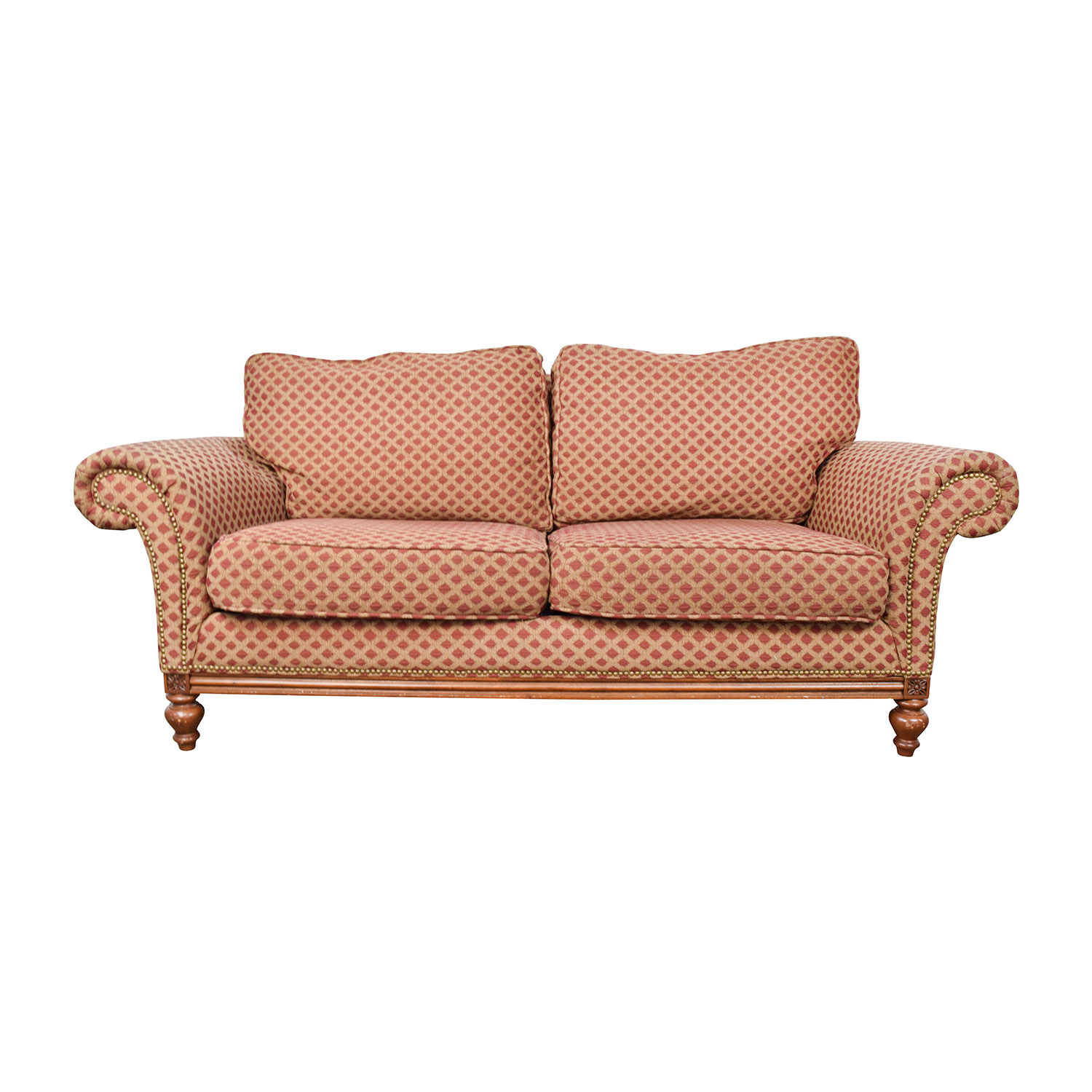 Bernhardt Bernhardt Red and Gold Love Seat on sale