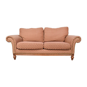 Bernhardt Bernhardt Red and Gold Love Seat discount