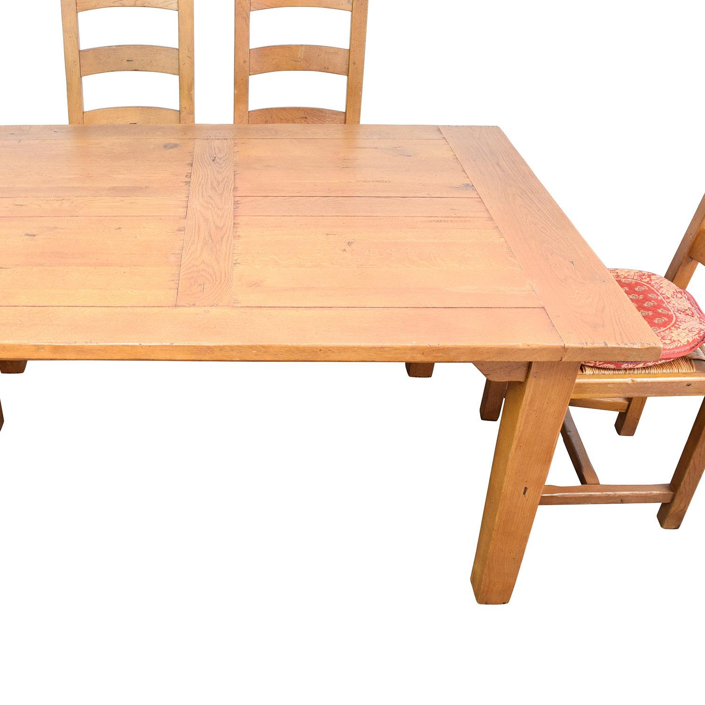 87 off crate and barrel crate barrel french farm dining set tables. Black Bedroom Furniture Sets. Home Design Ideas