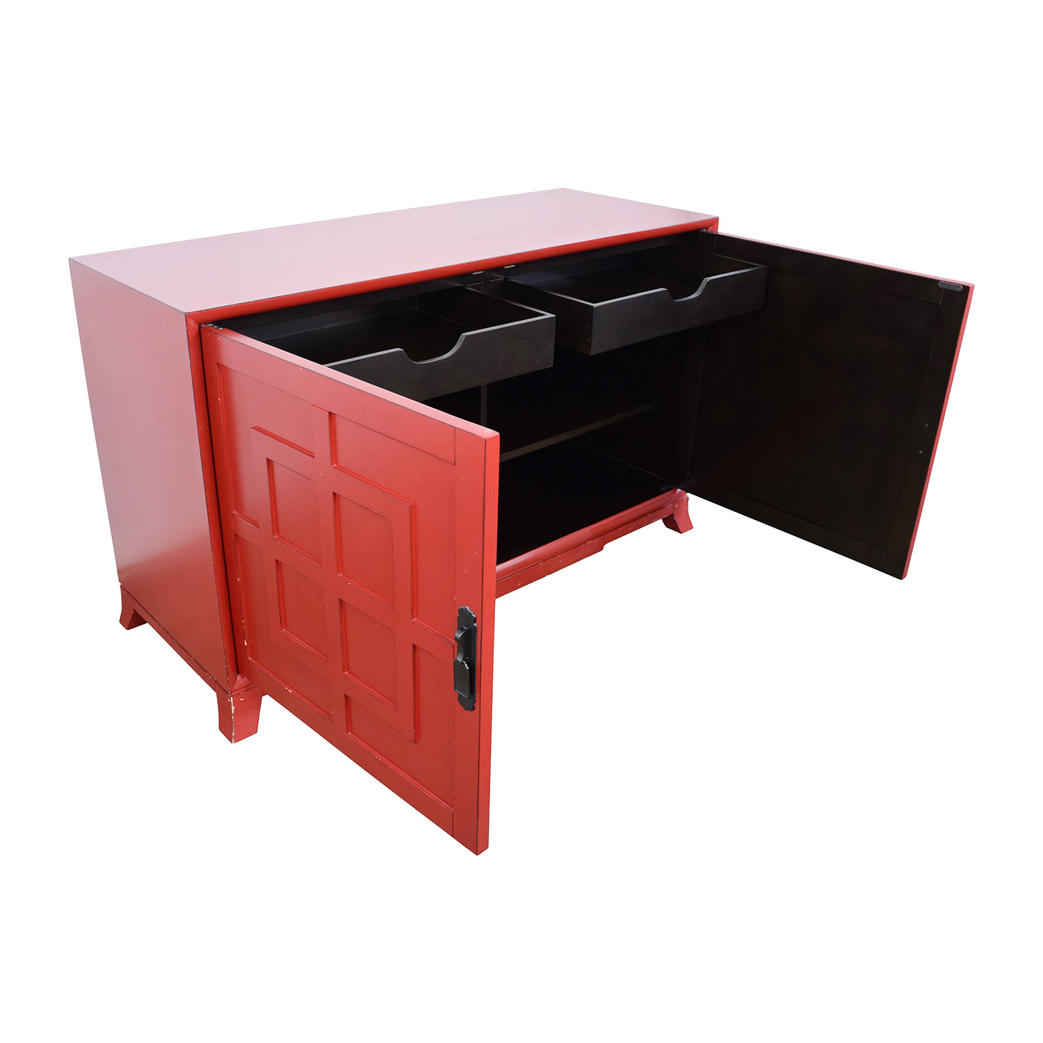 Crate and Barrel Crate & Barrel Red Media Storage used