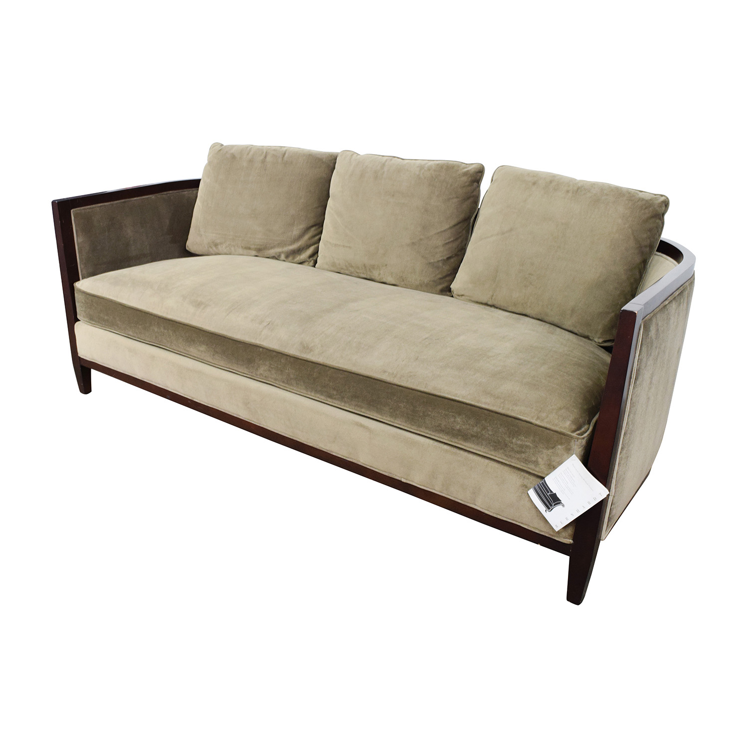 85 Off Bernhardt Bernhardt Tan Single Cushion Sofa Sofas