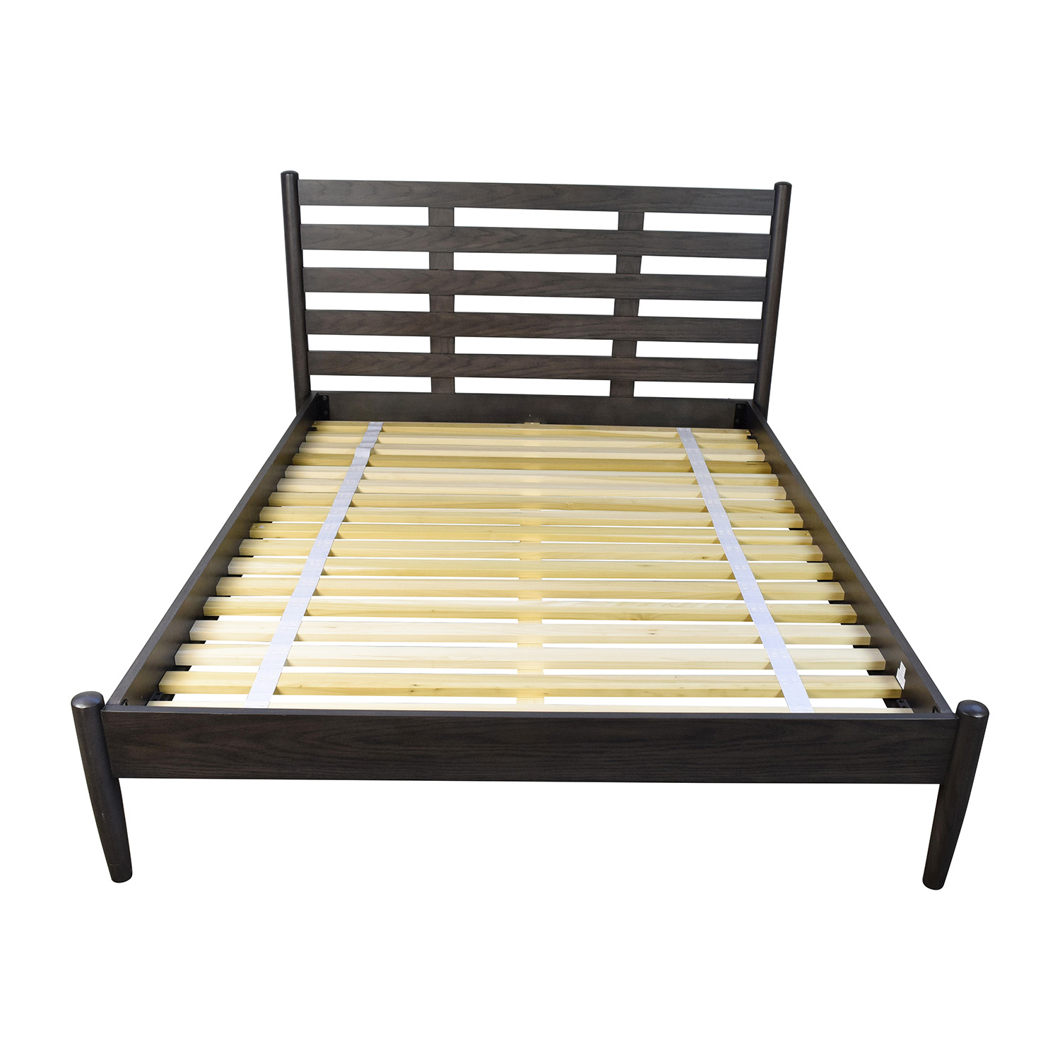 43% OFF - Crate and Barrel Crate & Barrel Barnes Queen Bed Frame / Beds