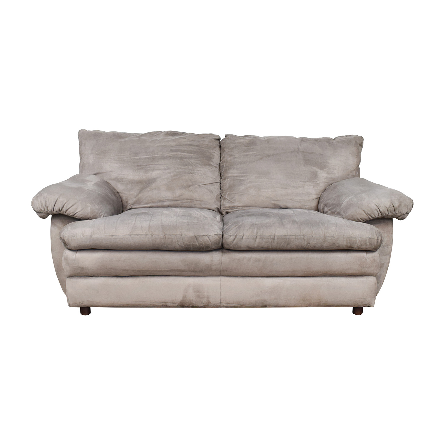 Microfiber Grey Couch On