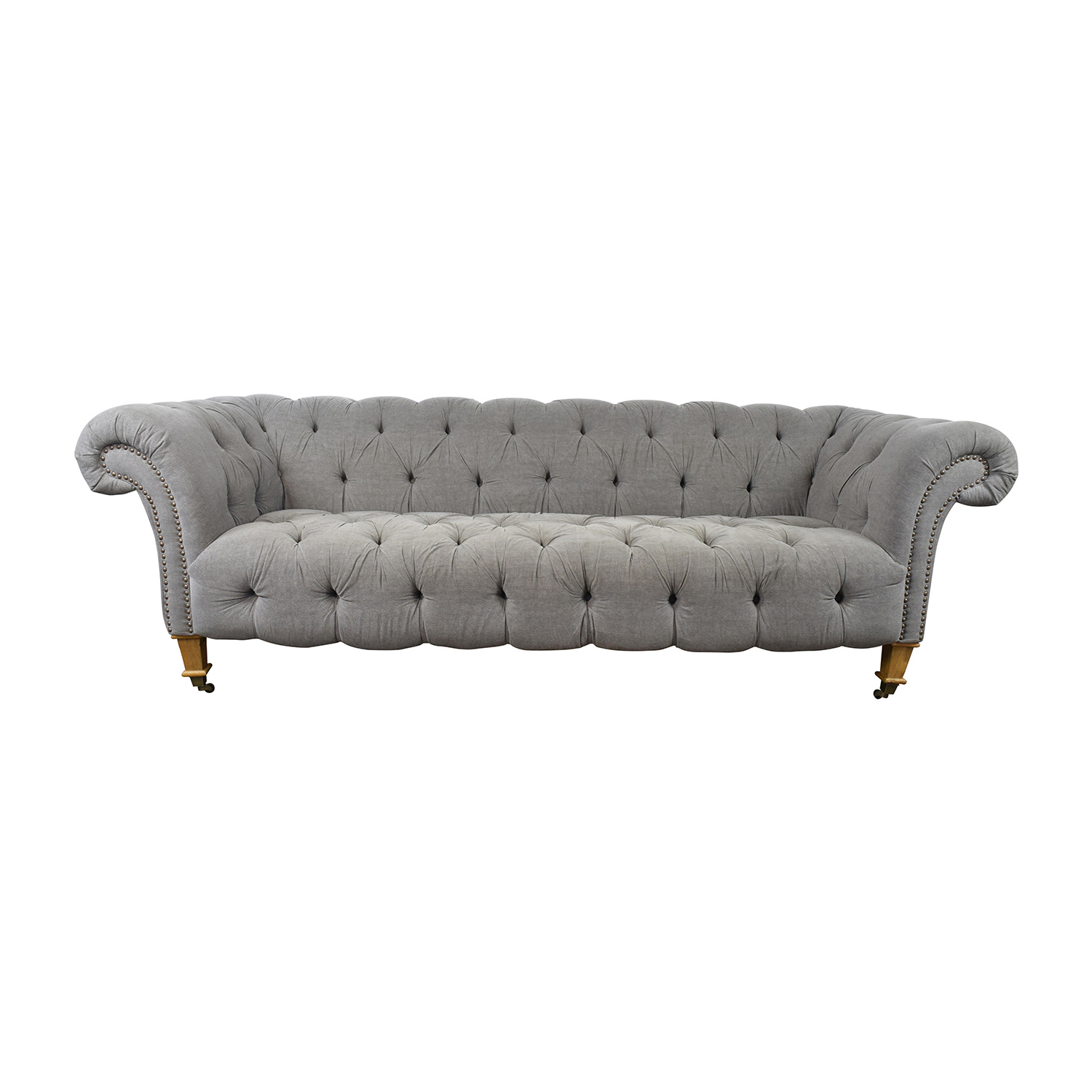 buy Chesterfield Grey Tufted Sofa  Sofas