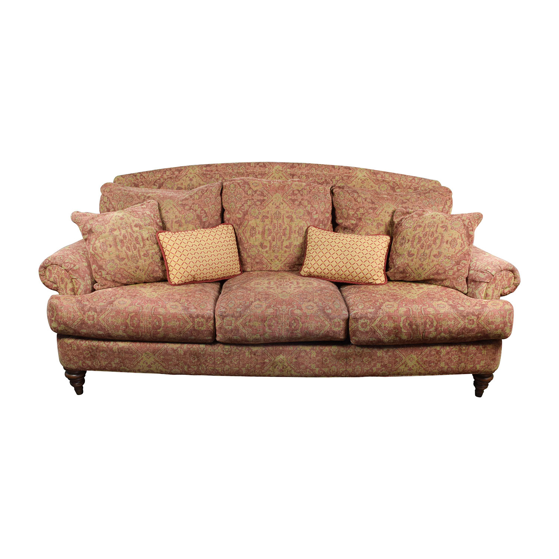 Ethan Allen Ethan Allen Paisley Sofa with Toss Pillows for sale