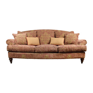 Ethan Allen Ethan Allen Paisley Sofa with Toss Pillows