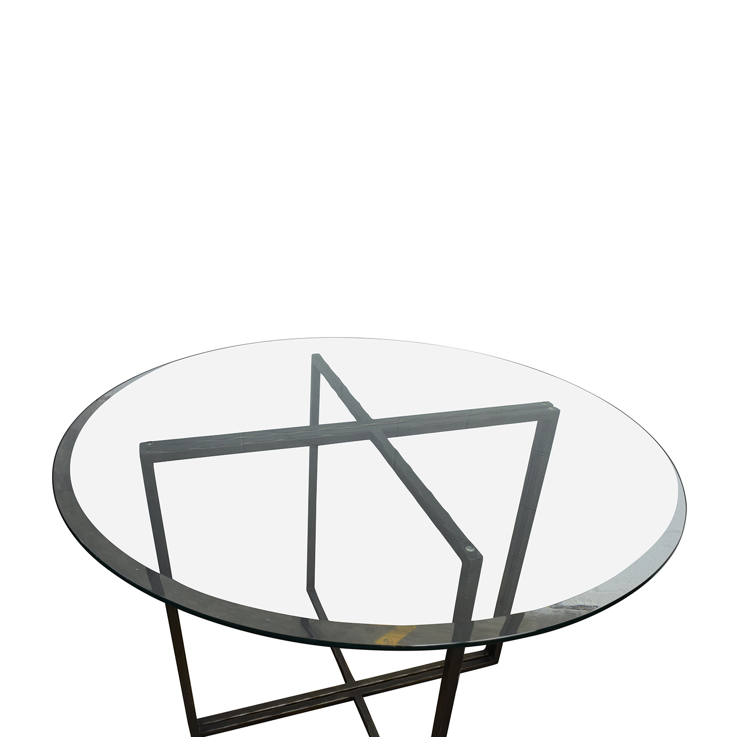 Buy Crate And Barrel Everitt Glass Top Dining Table Online