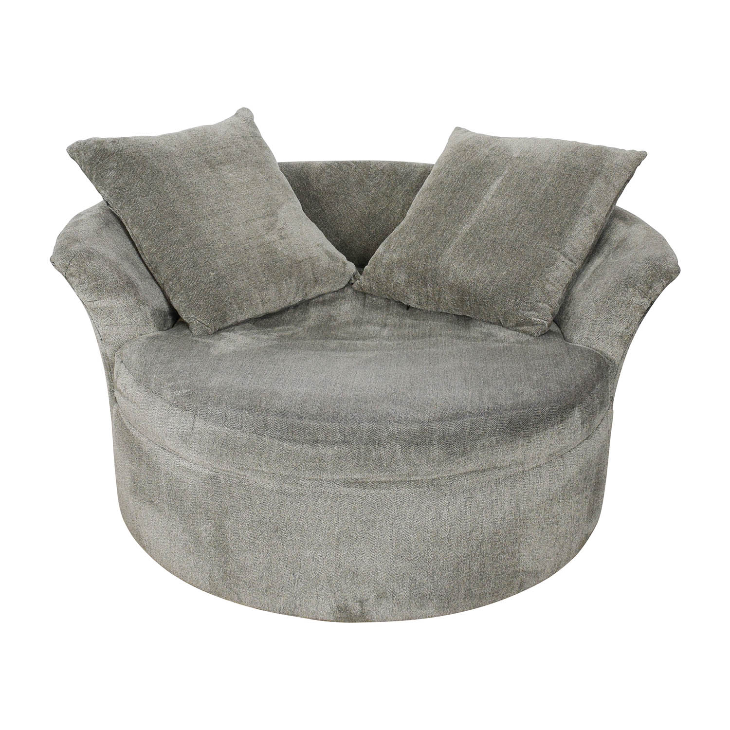 Bobs Furniture Bobs Furniture Grey Circular Loveseat