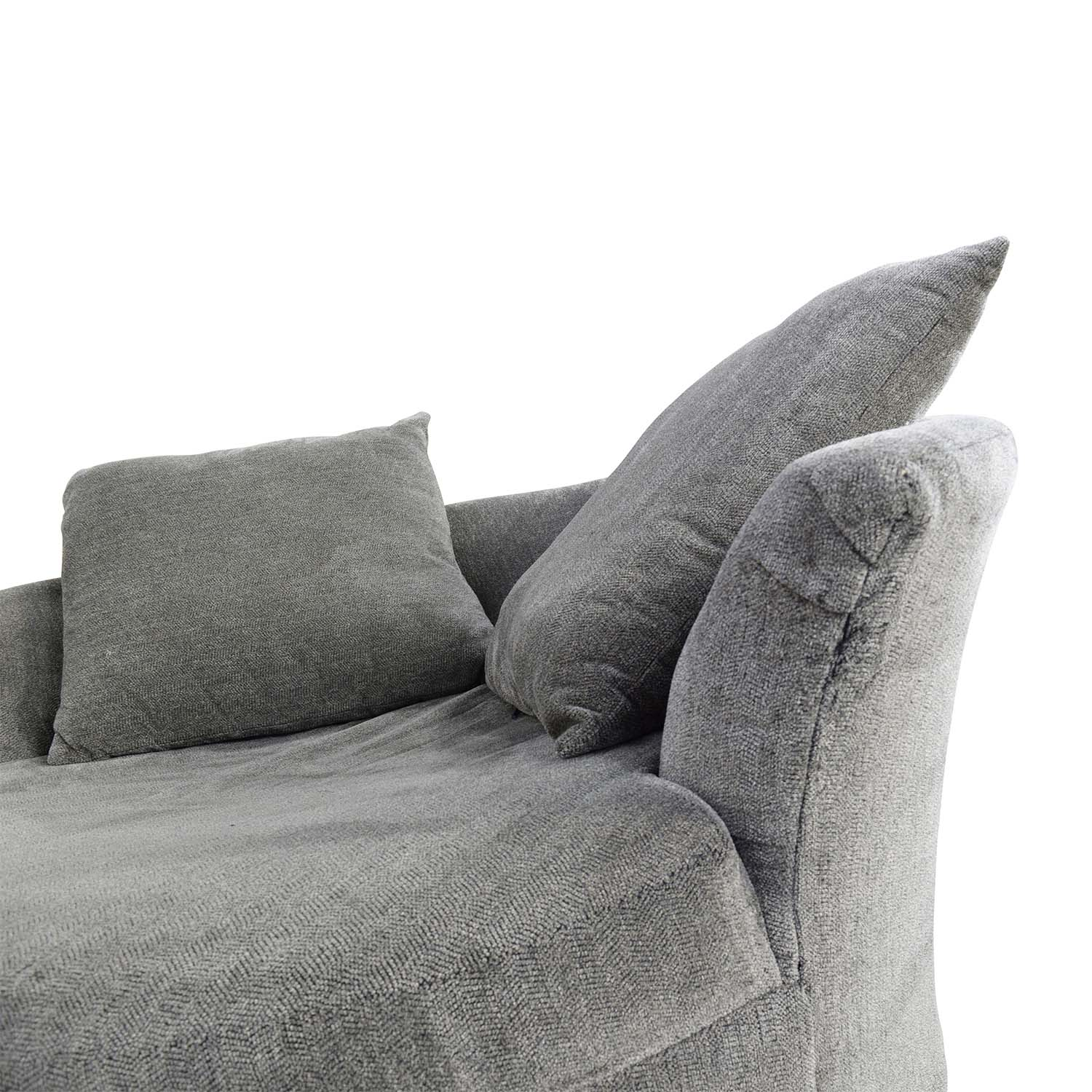 76% OFF Bob s Furniture Bob s Furniture Grey Circular Loveseat