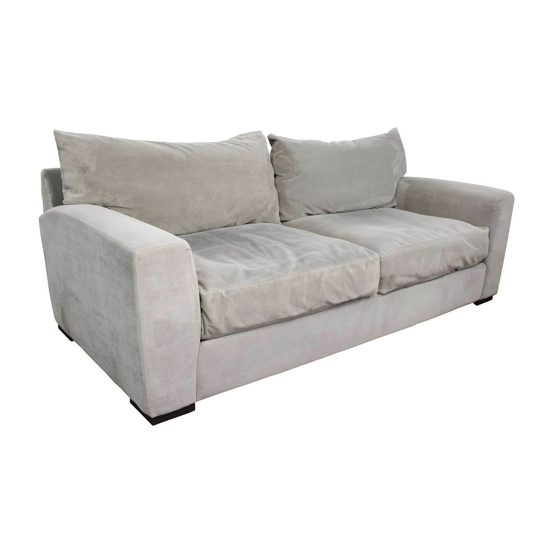 ... Raymour U0026 Flanigan Carlin Grey Microfiber Sofa / Sofas ...