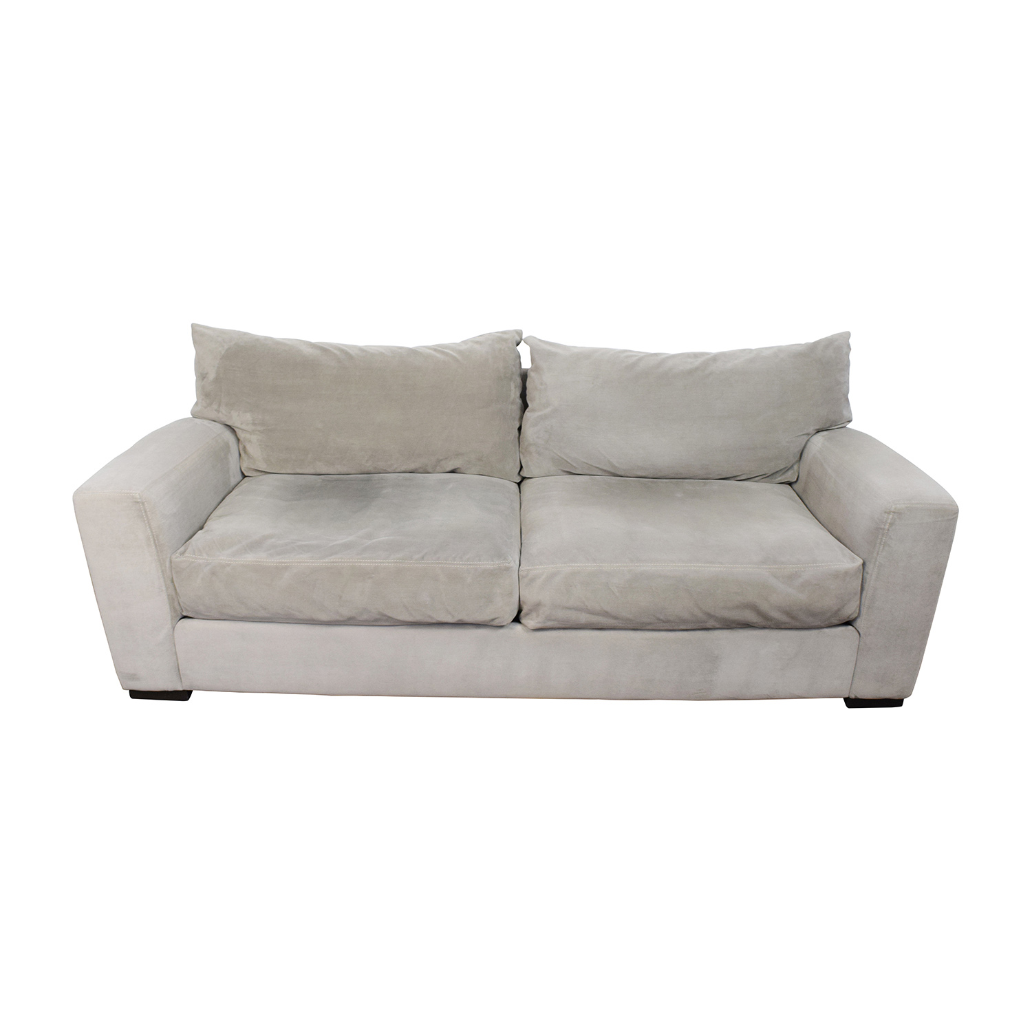 Raymour and Flanigan Raymour & Flanigan Carlin Grey Microfiber Sofa discount