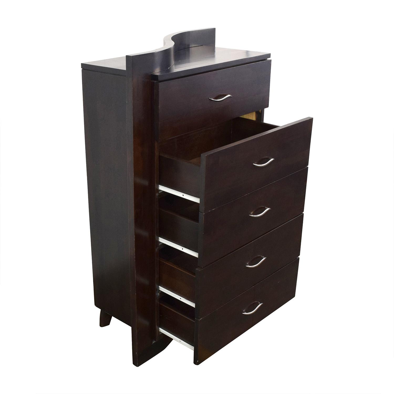 65 Off Fancy Curved 5 Drawer Dresser Storage