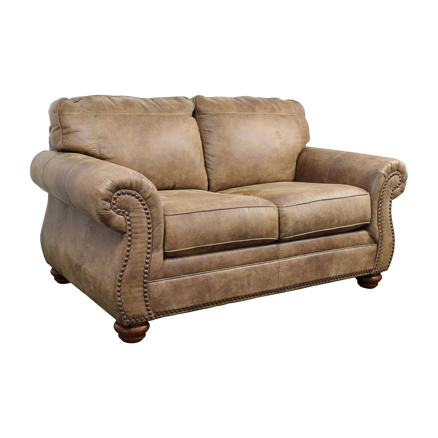 57 off signature design by ashley signature design by ashley tallow faux leather loveseat sofas Ashley couch and loveseat