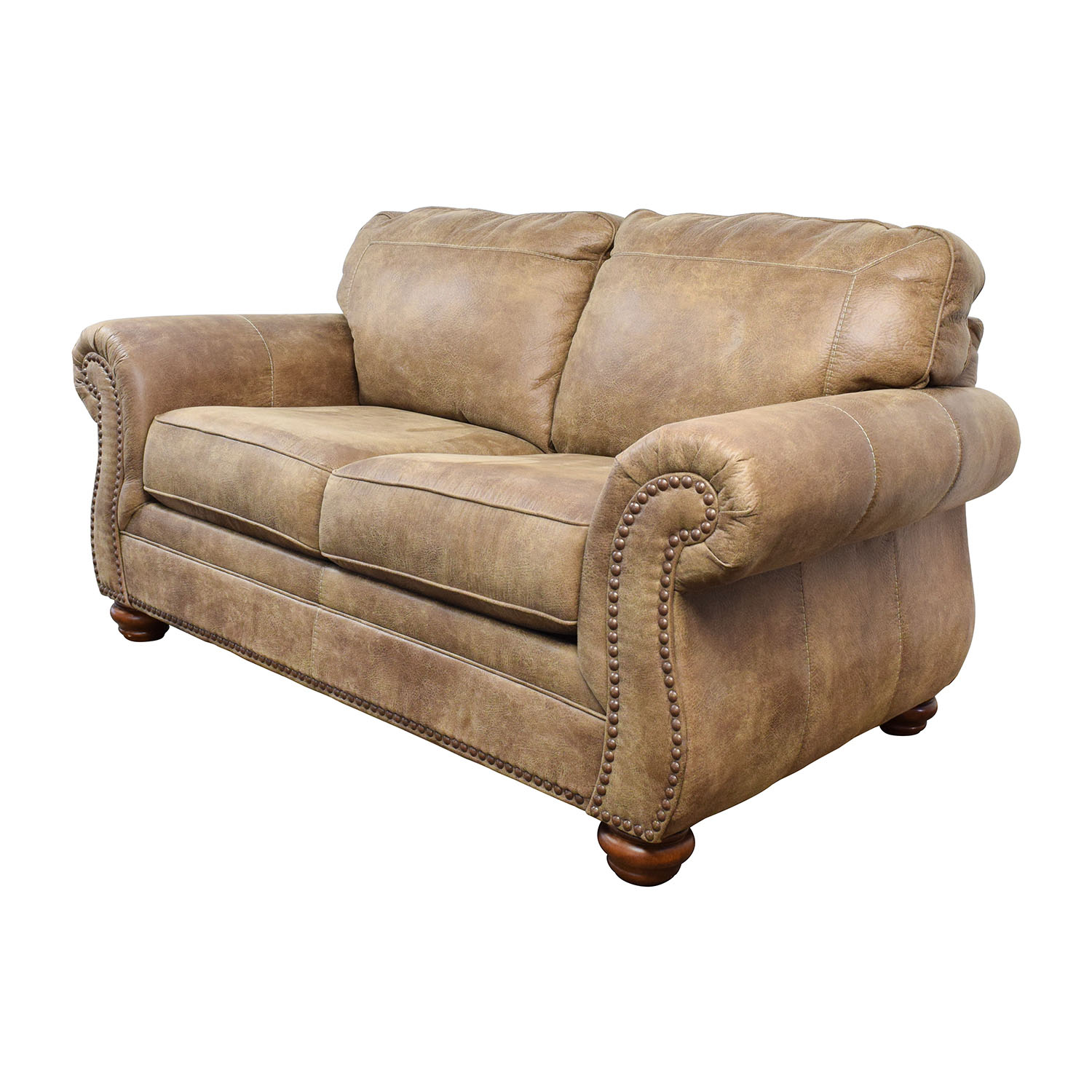 57 Off Signature Design By Ashley Signature Design By Ashley Tallow Faux Leather Loveseat Sofas