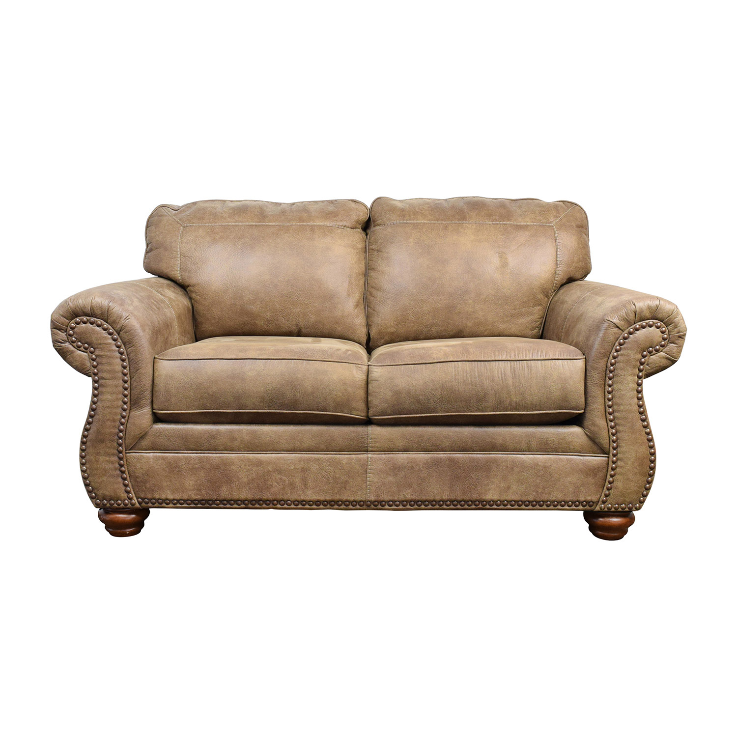 Terrific 57 Off Ashley Furniture Signature Design By Ashley Tallow Faux Leather Loveseat Sofas Dailytribune Chair Design For Home Dailytribuneorg