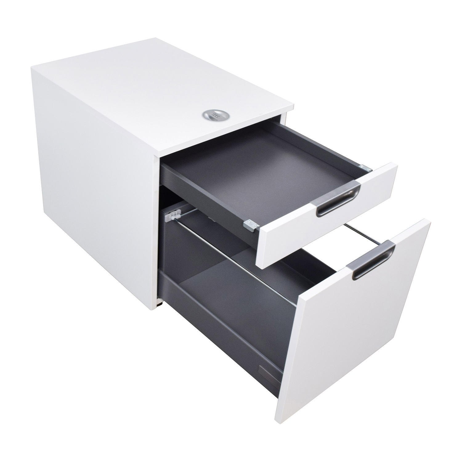 Good ... IKEA IKEA Galant White Combination Lock File Cabinet Tables ...
