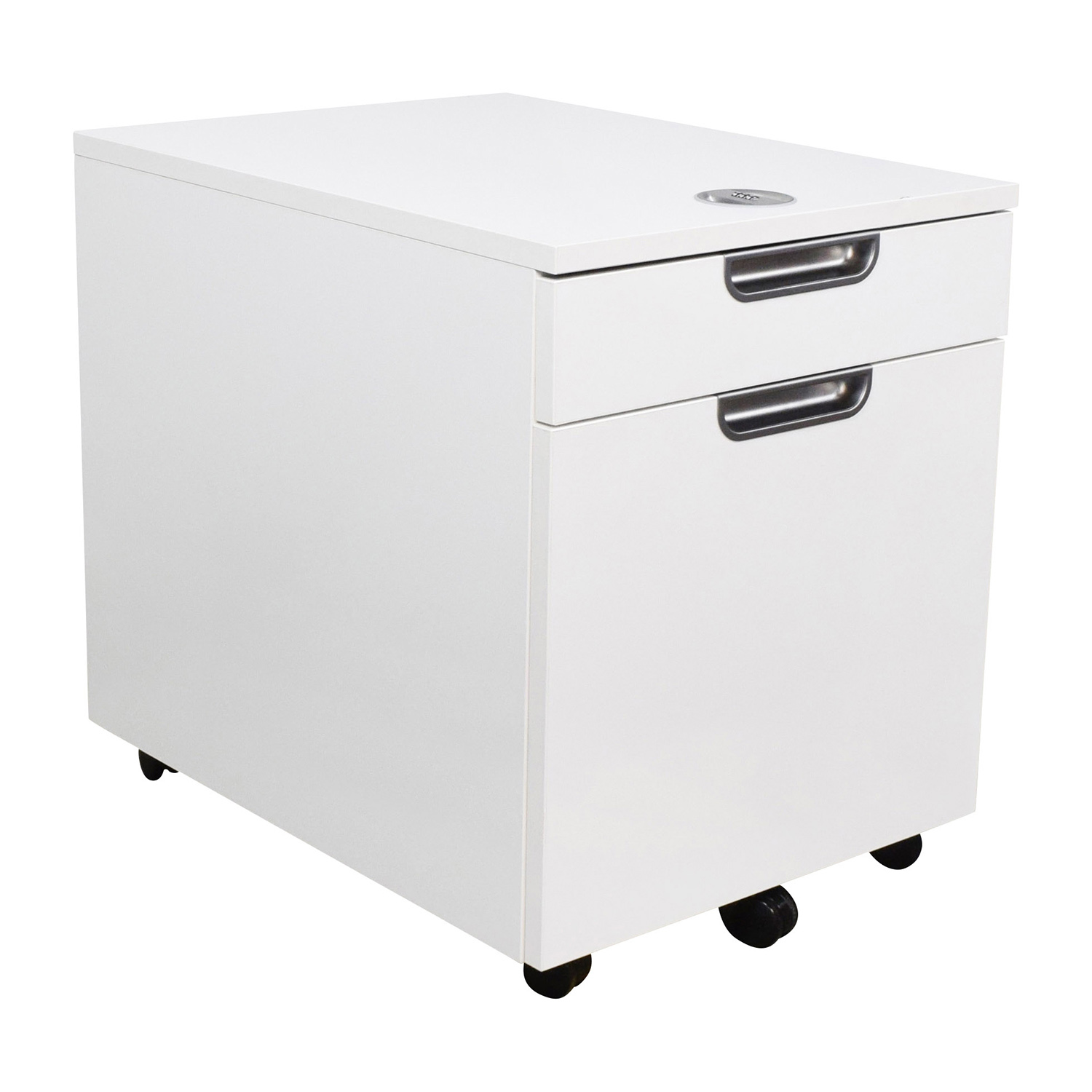 ... IKEA IKEA Galant White Combination Lock File Cabinet End Tables ...