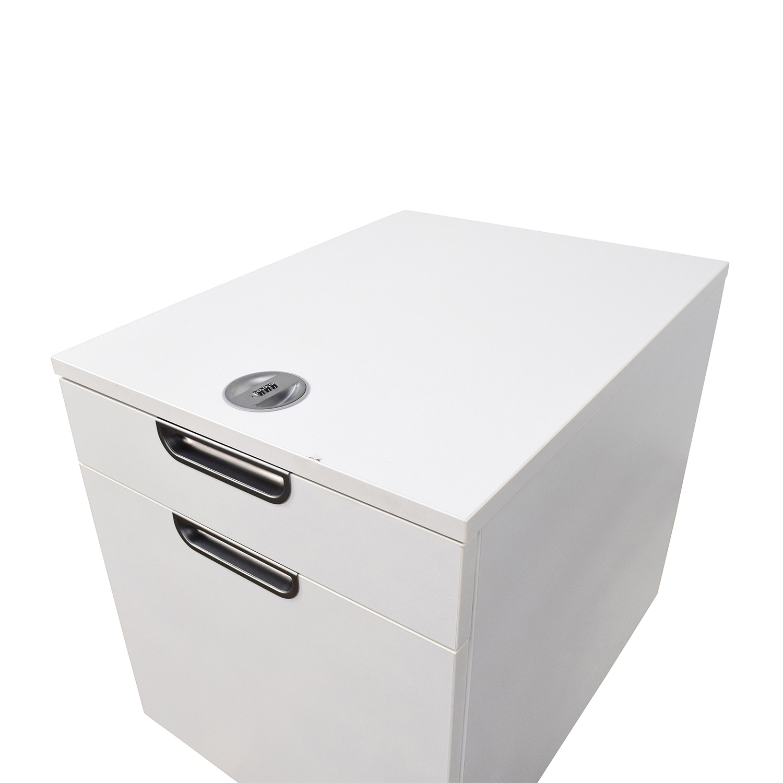... IKEA Galant White Combination Lock File Cabinet Sale ...