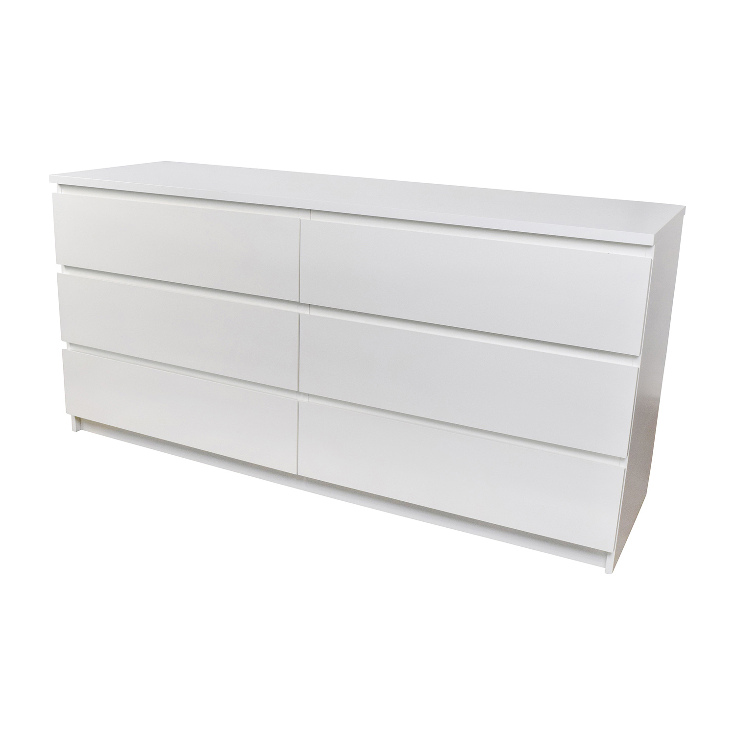 26 off ikea ikea malm 6 drawer white dresser storage. Black Bedroom Furniture Sets. Home Design Ideas