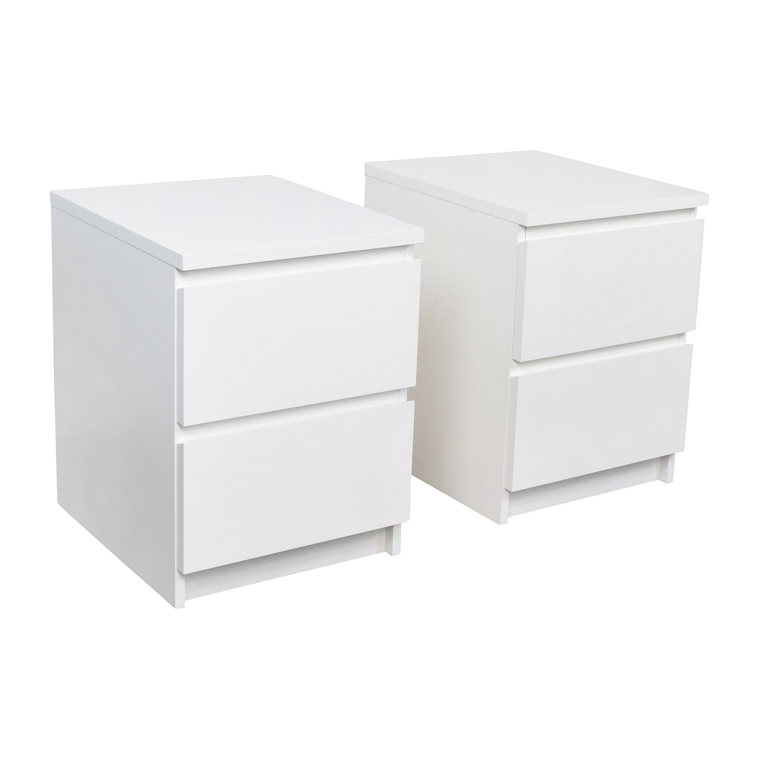40 off ikea ikea malm white two drawer end tables tables. Black Bedroom Furniture Sets. Home Design Ideas
