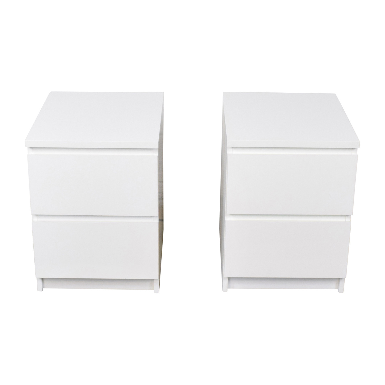 IKEA IKEA Malm White Two Drawer End Tables Sofas
