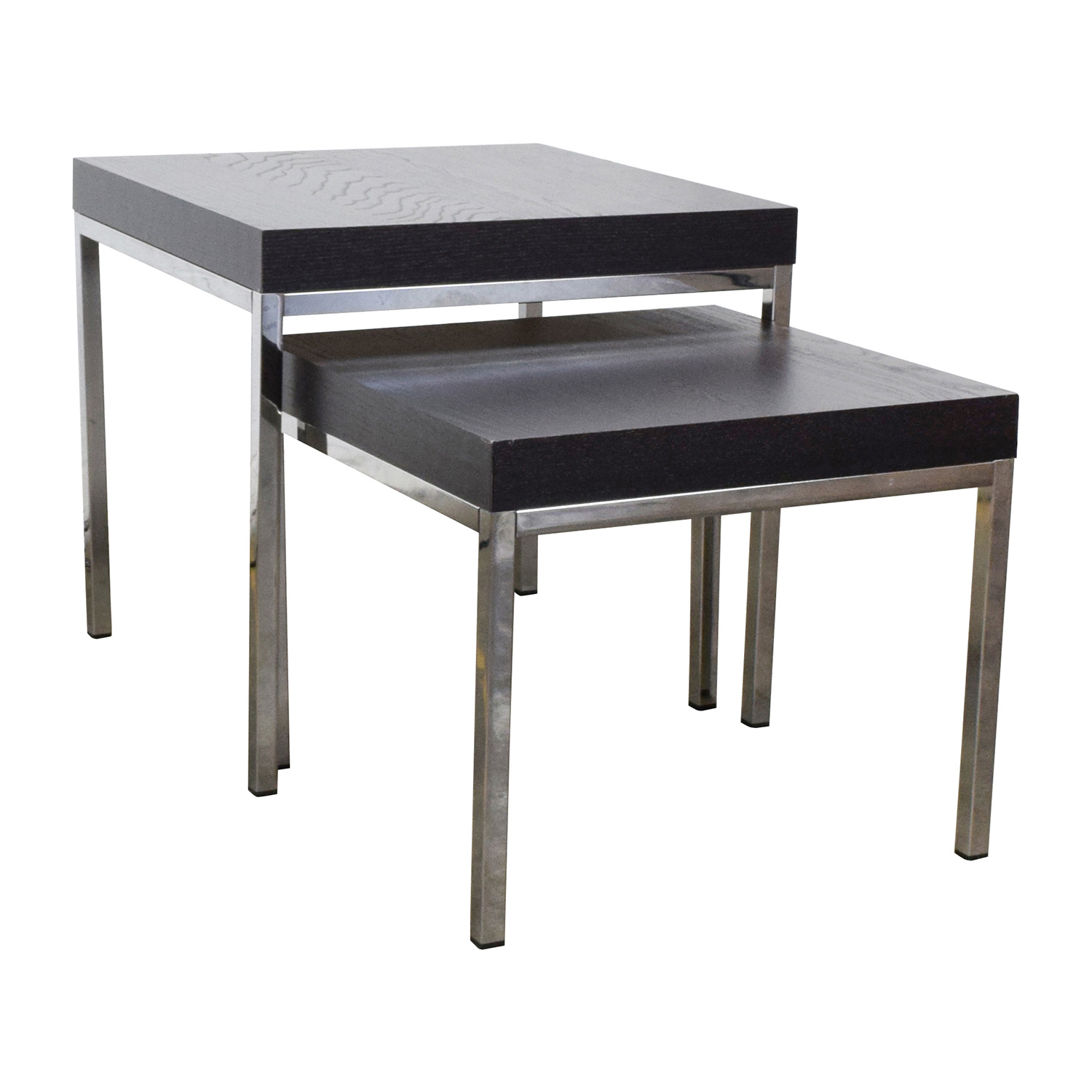 Ikea Klubbo Black And Chrome Nesting Tables End