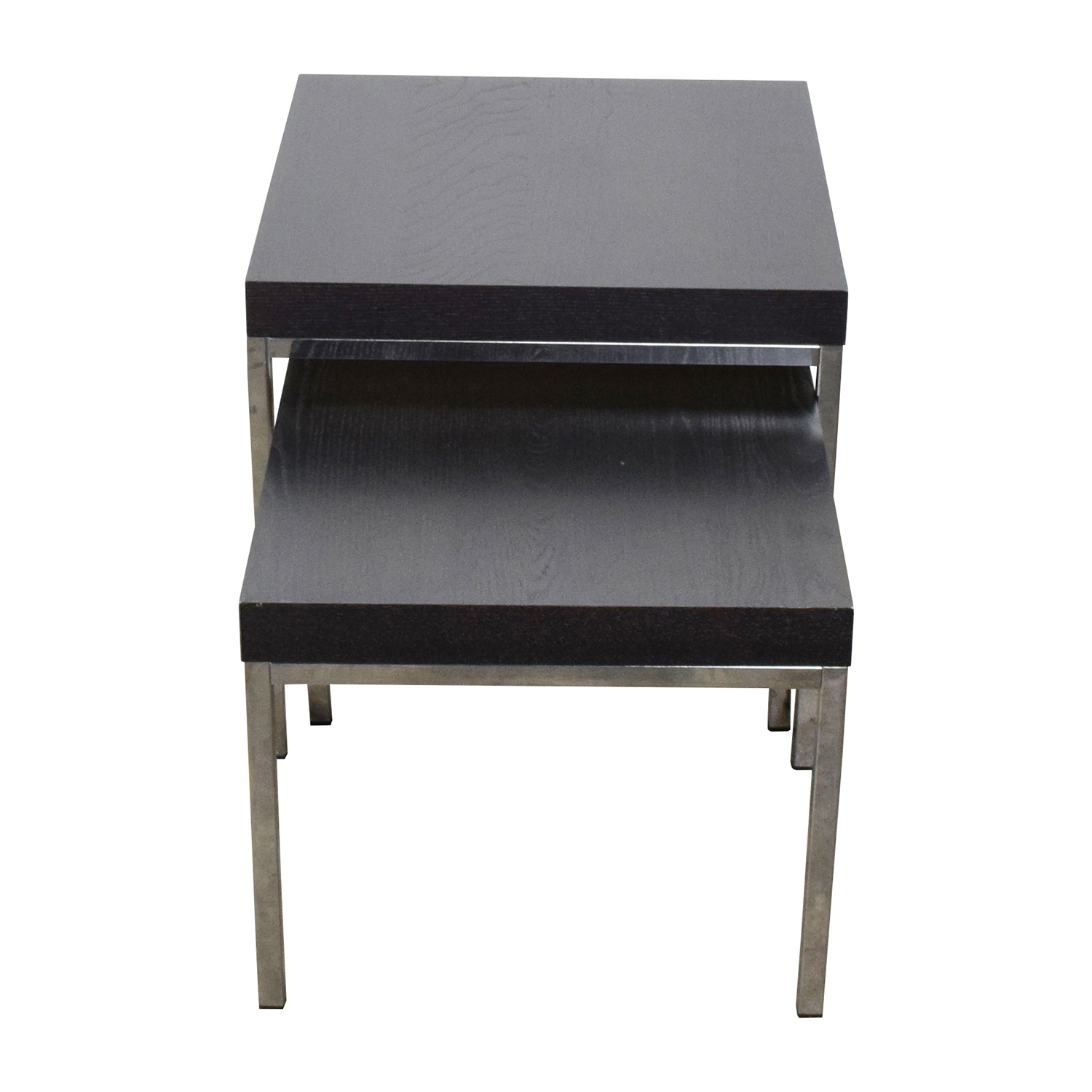 IKEA IKEA Klubbo Black and Chrome Nesting Tables second hand