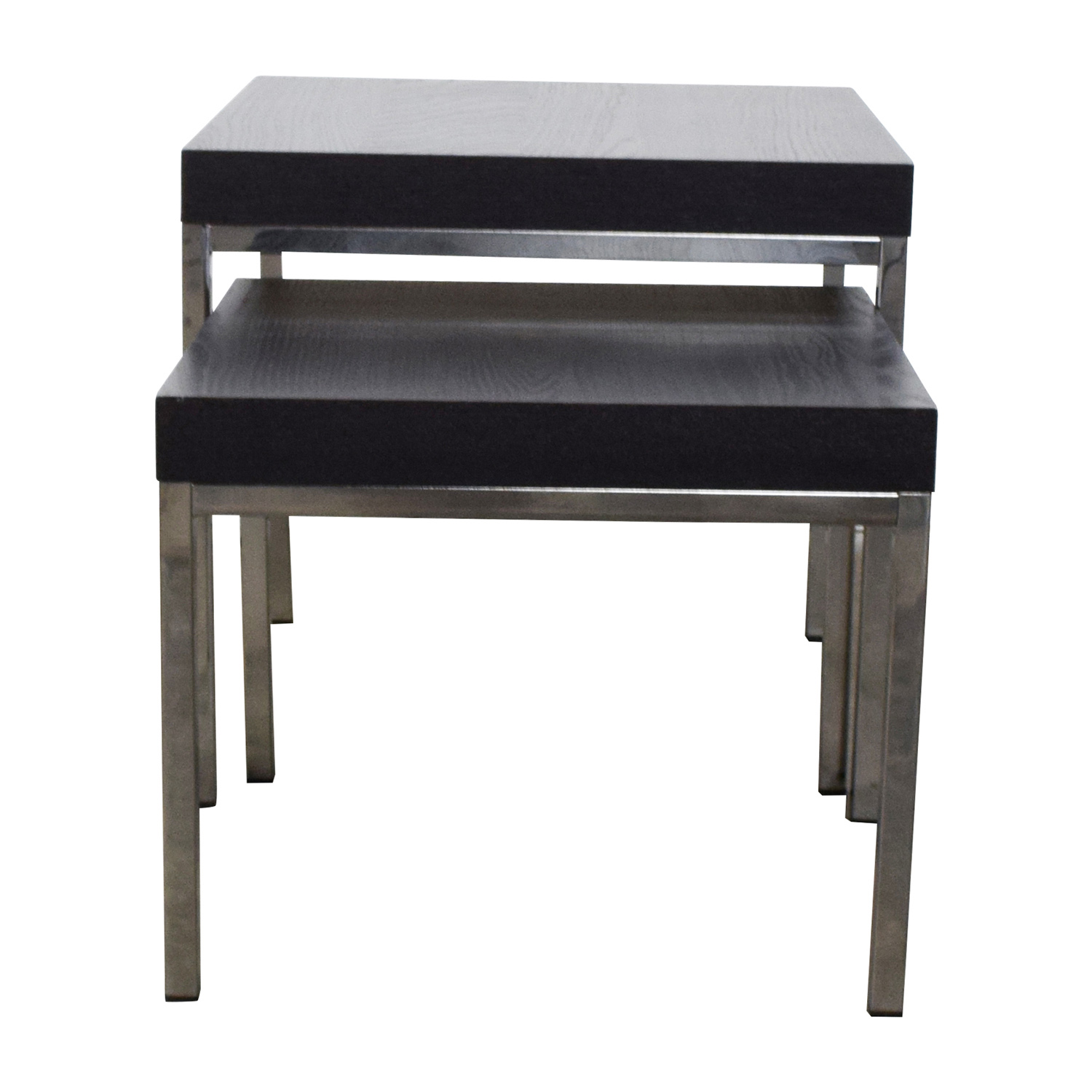 IKEA Klubbo Black and Chrome Nesting Tables / Tables