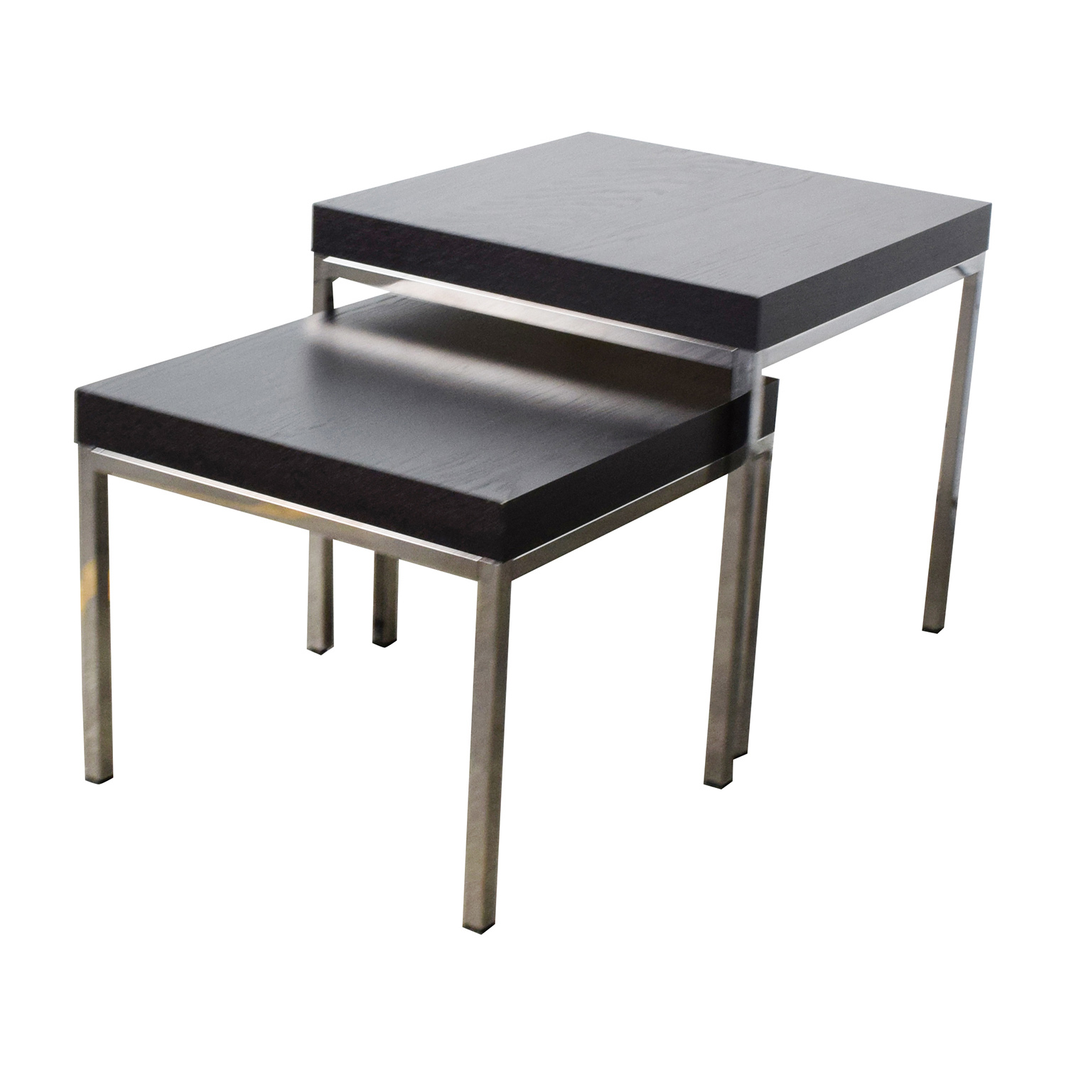 IKEA IKEA Klubbo Black And Chrome Nesting Tables
