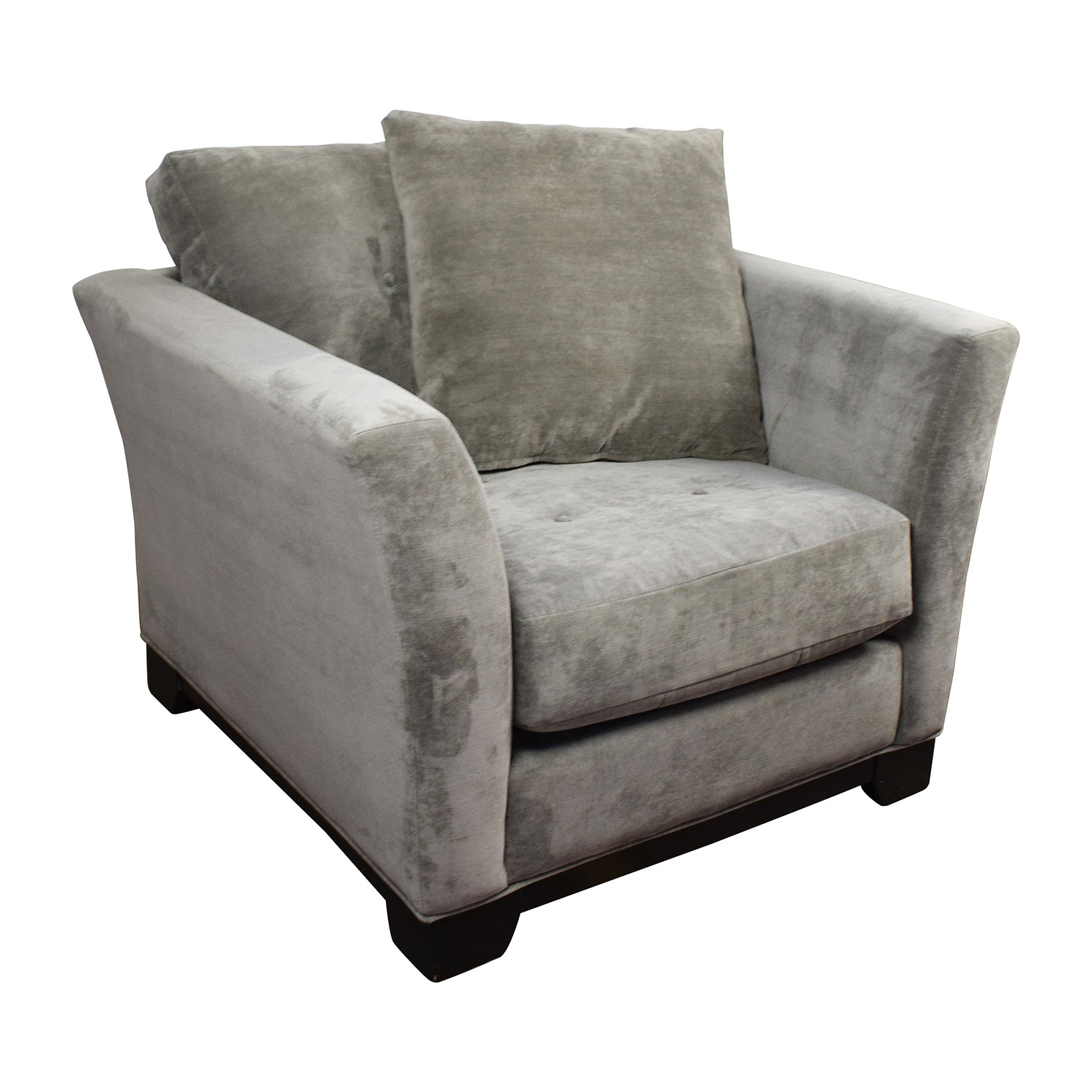 44 Off Macy S Macy S Kenton Grey Accent Chair Chairs