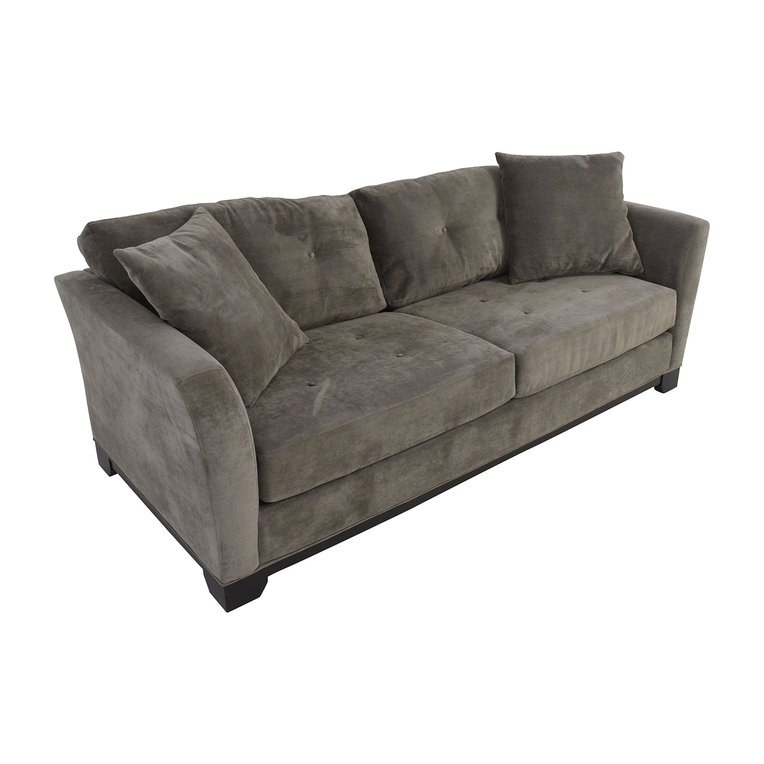 Macy's Macy's Grey Tufted Couch / Sofas