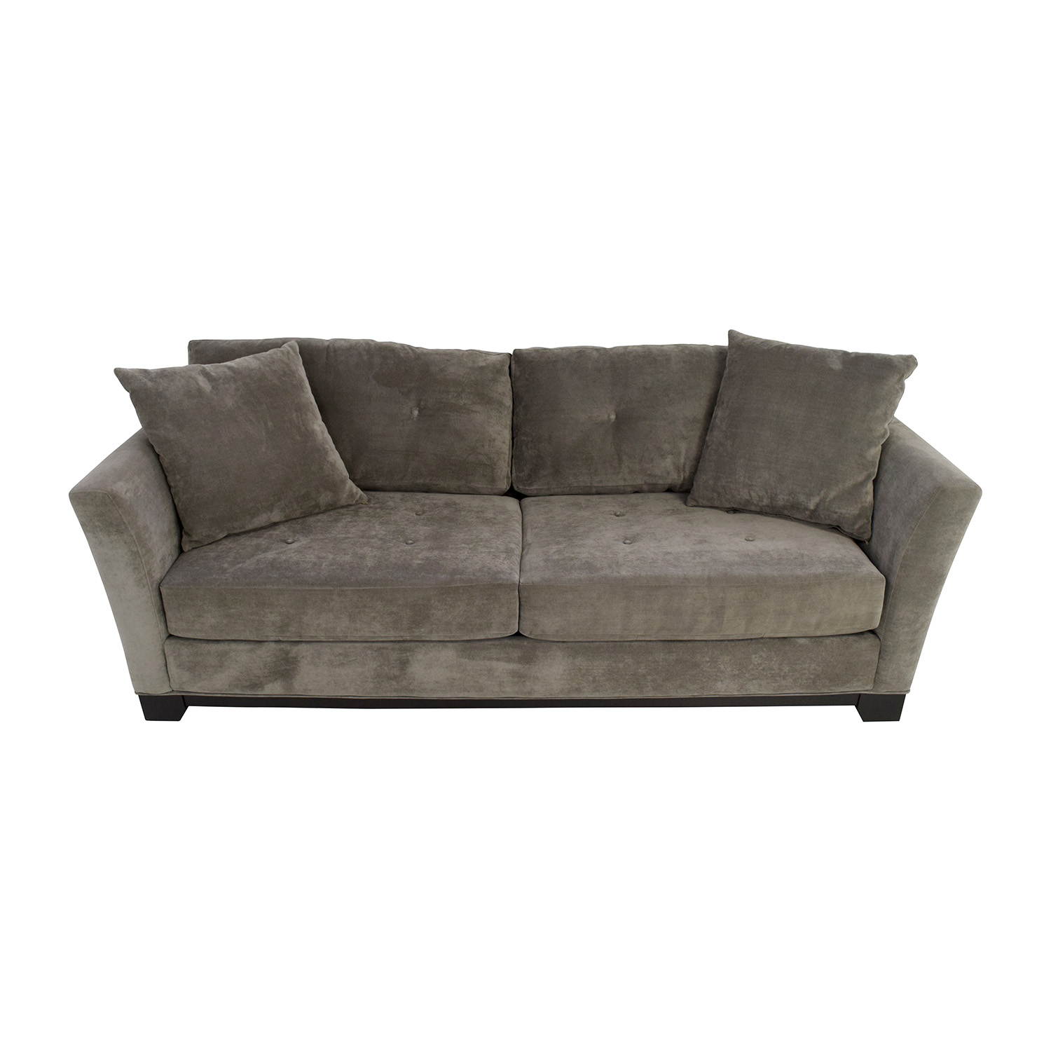 Macys Macys Grey Tufted Couch discount