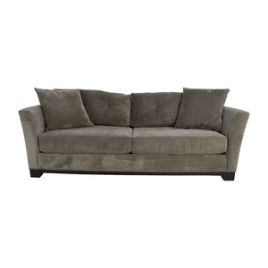 shop Macy's Grey Tufted Couch Macy's