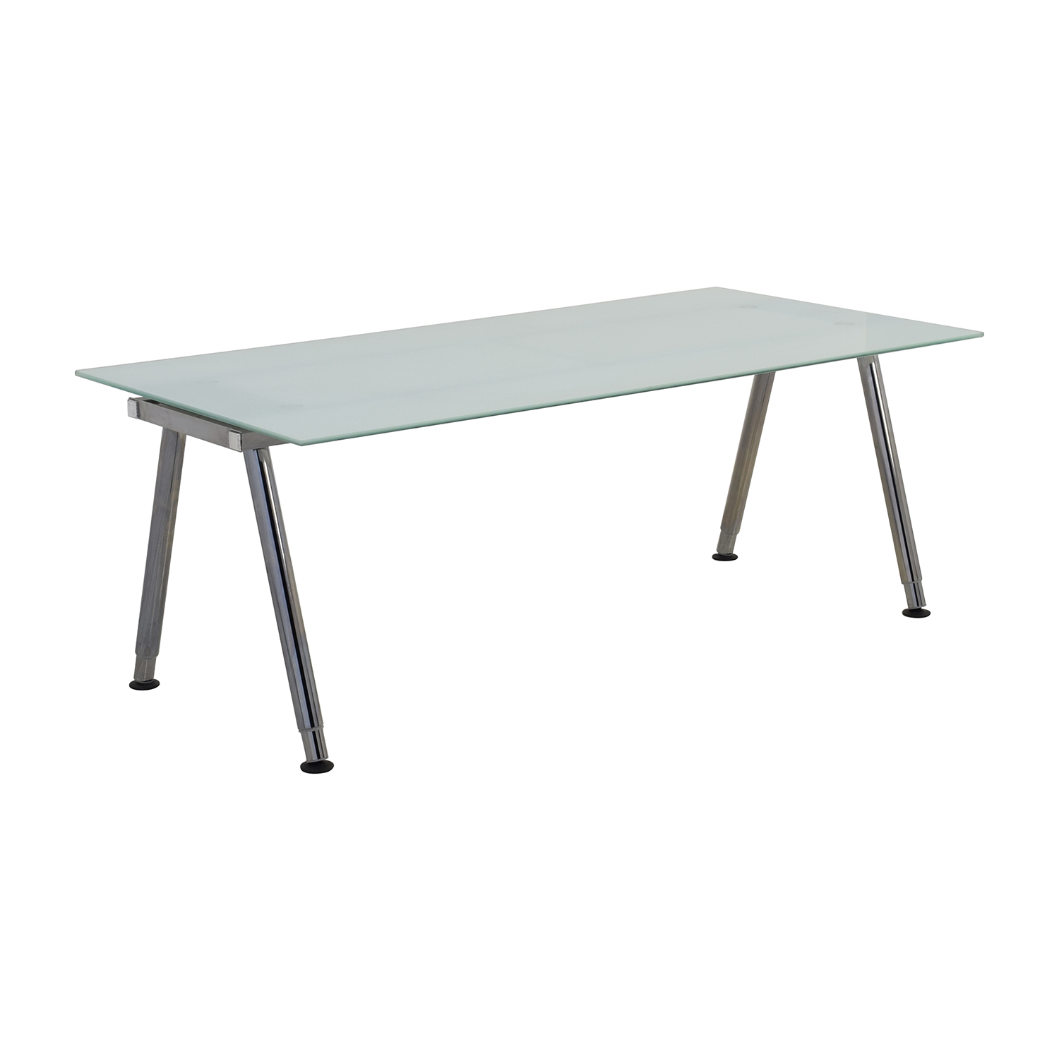 69 off ikea ikea galant glass top desk tables for Ikea glass table tops