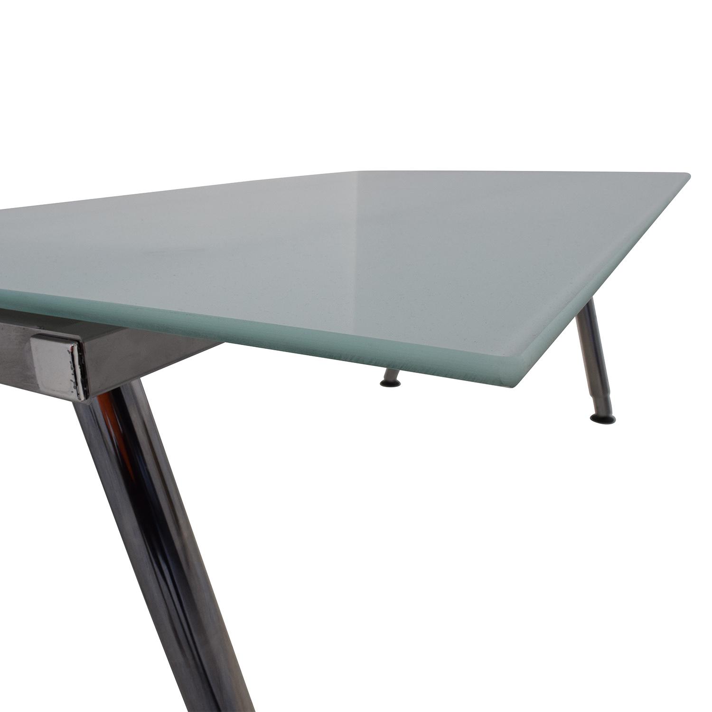 69 Off Ikea Ikea Galant Glass Top Desk Tables