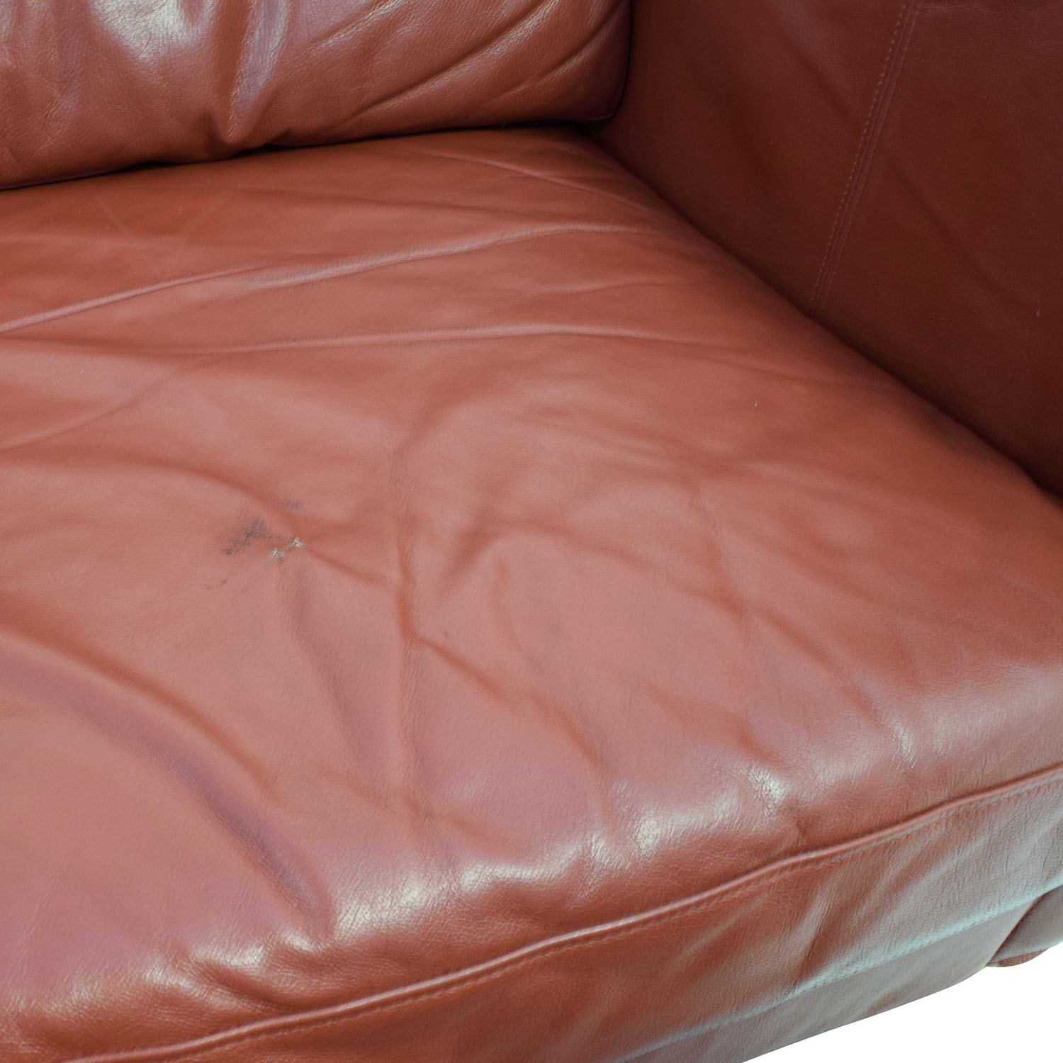 buy Contemporary Red Leather Couch and Ottoman online