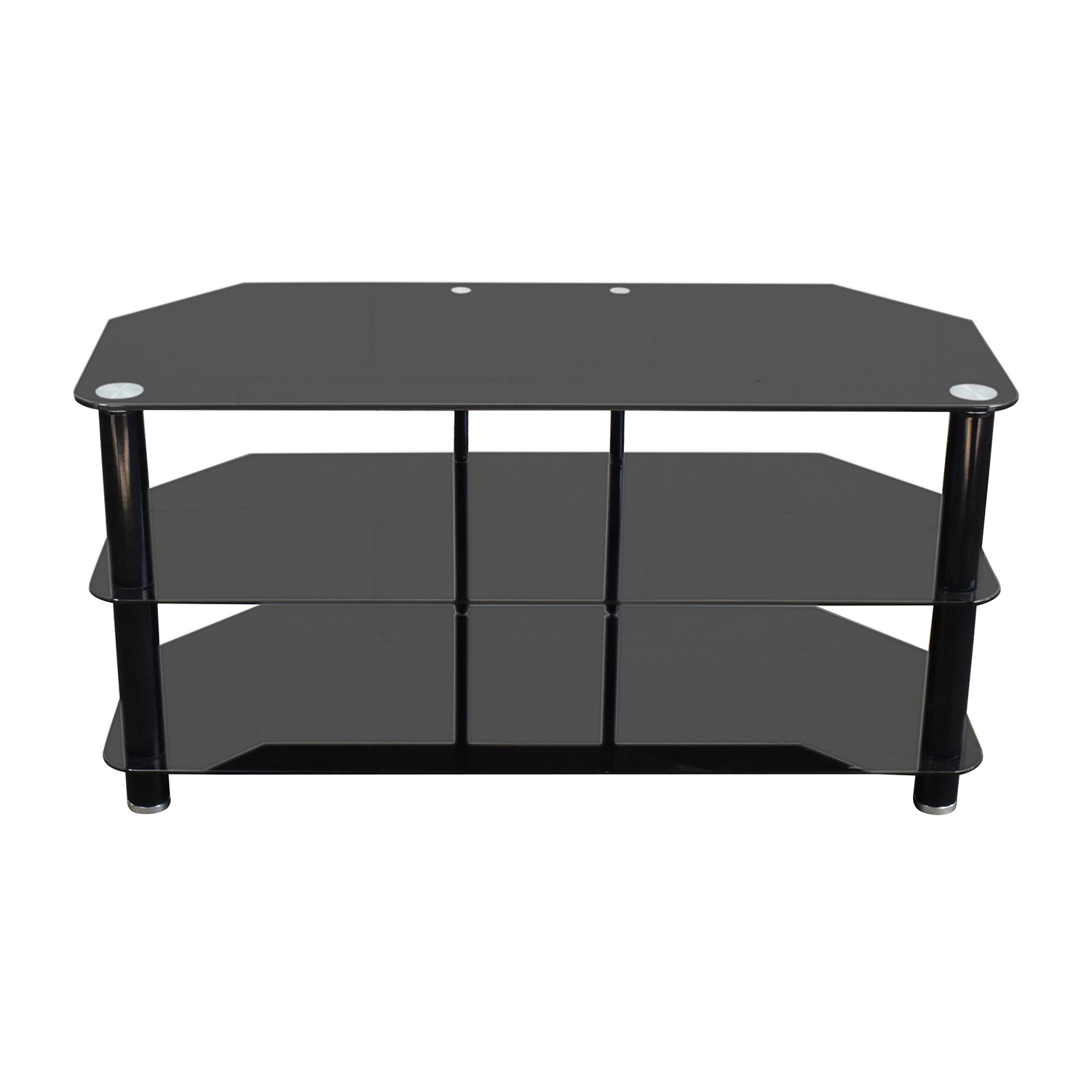 Black Glass TV Stand second hand