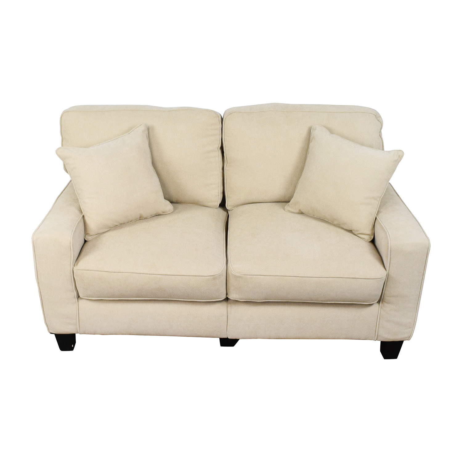 spaces cart loveseat added pdp qty leather your been has tan successfully living to candace