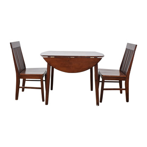 Round Dining Table with Folding Sides and Chairs coupon