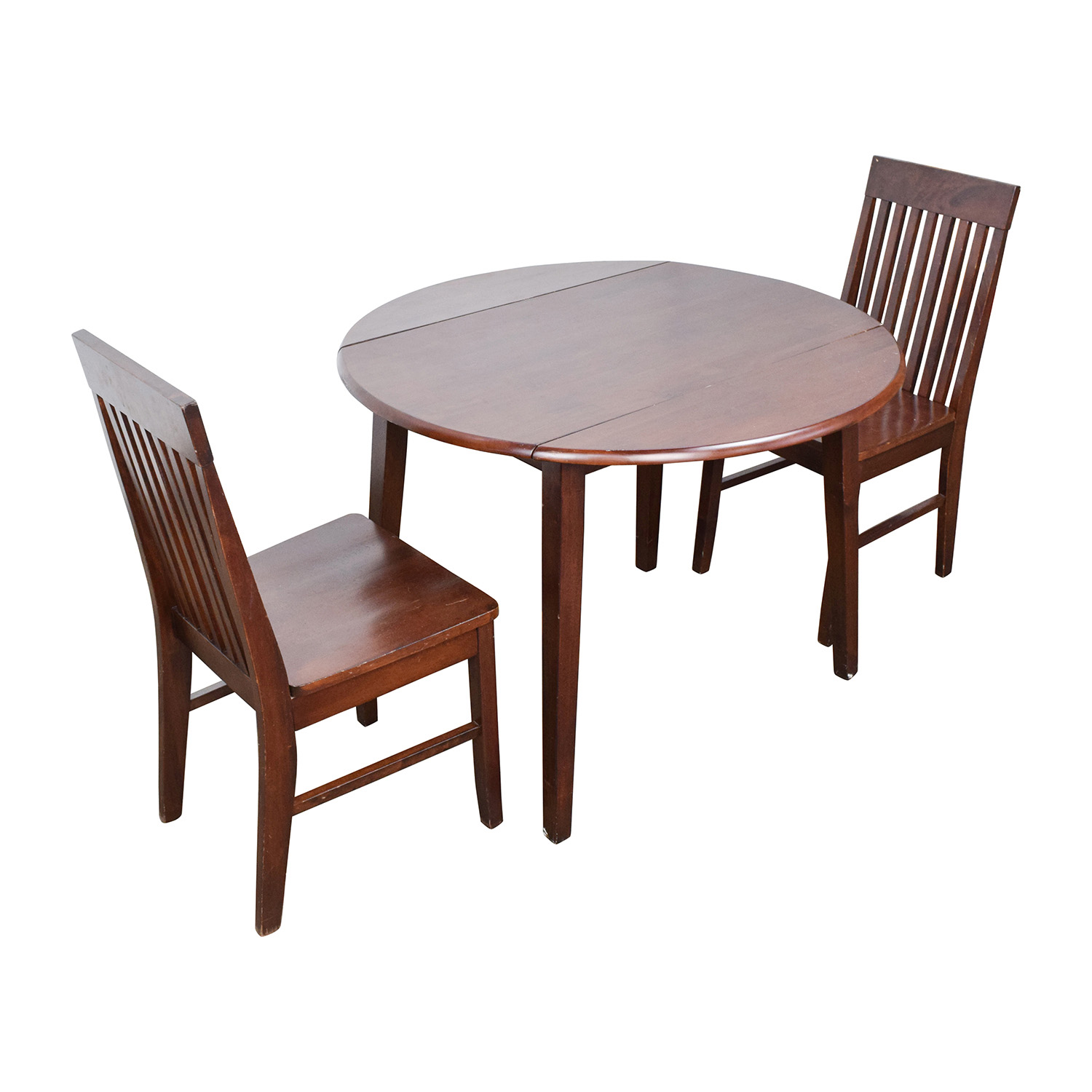 60 off round dining table with folding sides and chairs for Round dining table and chairs