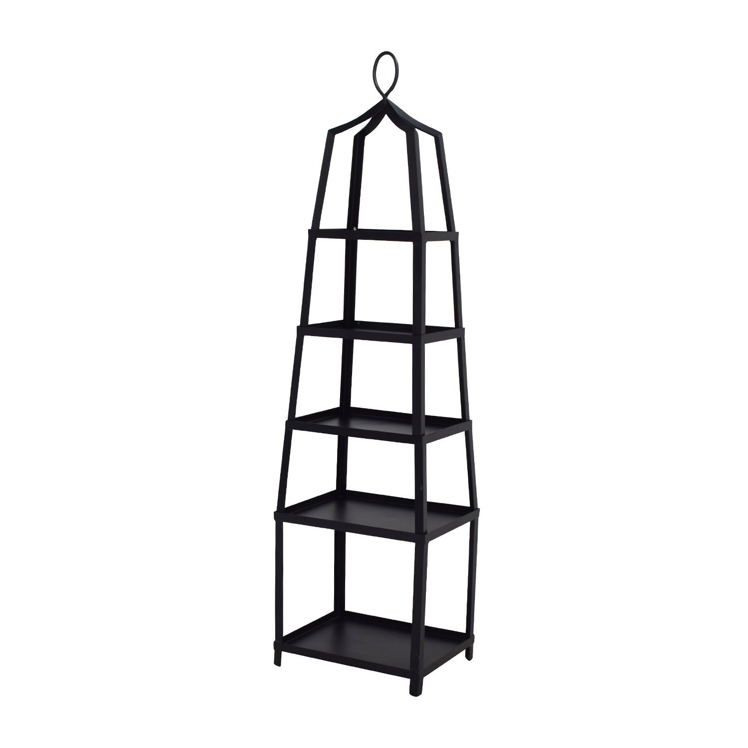 70 off ballard designs ballard design grand tour black metal etagere storage. Black Bedroom Furniture Sets. Home Design Ideas